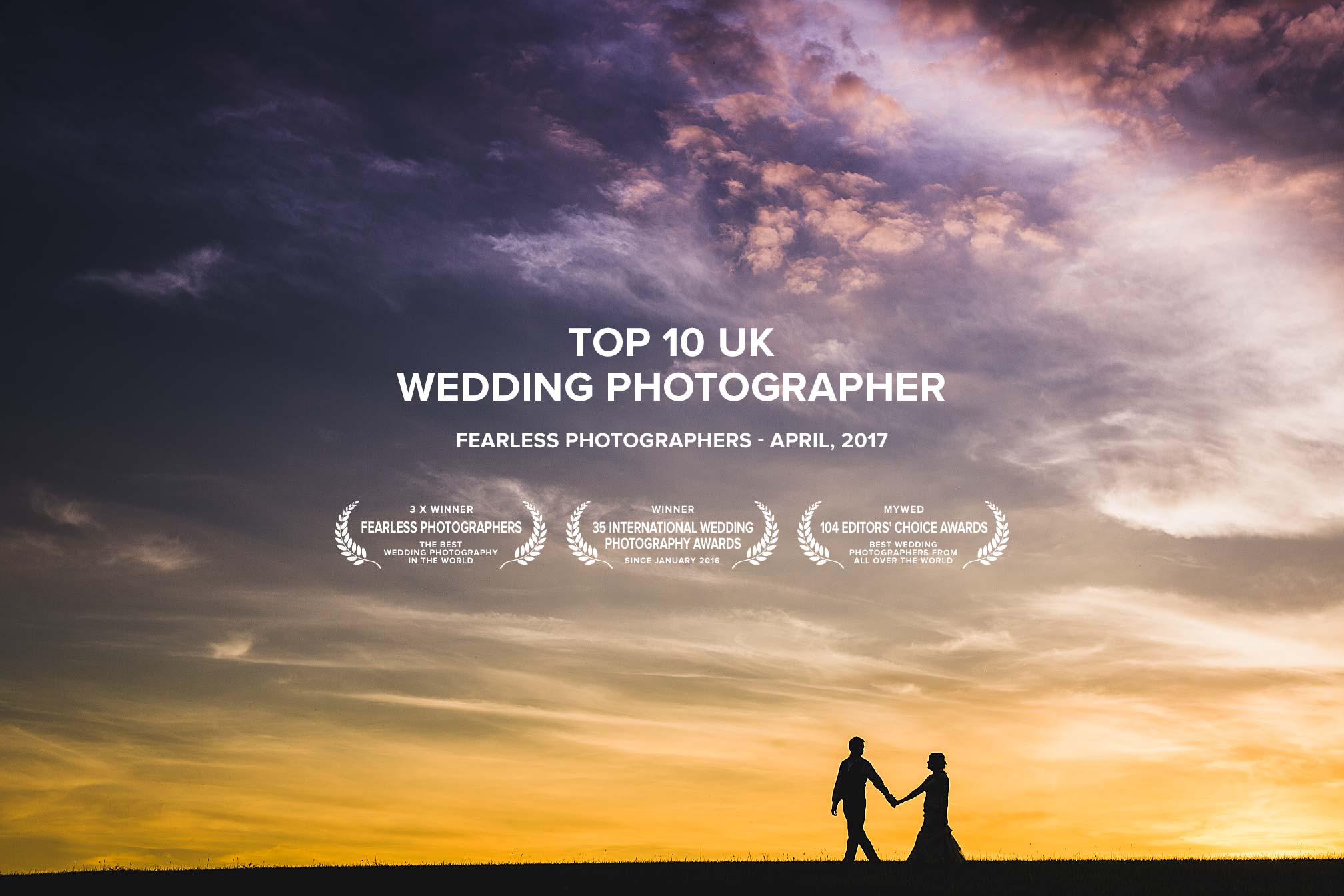 Top 10 UK Award Winning Wedding Photographer - Fearless Photographers