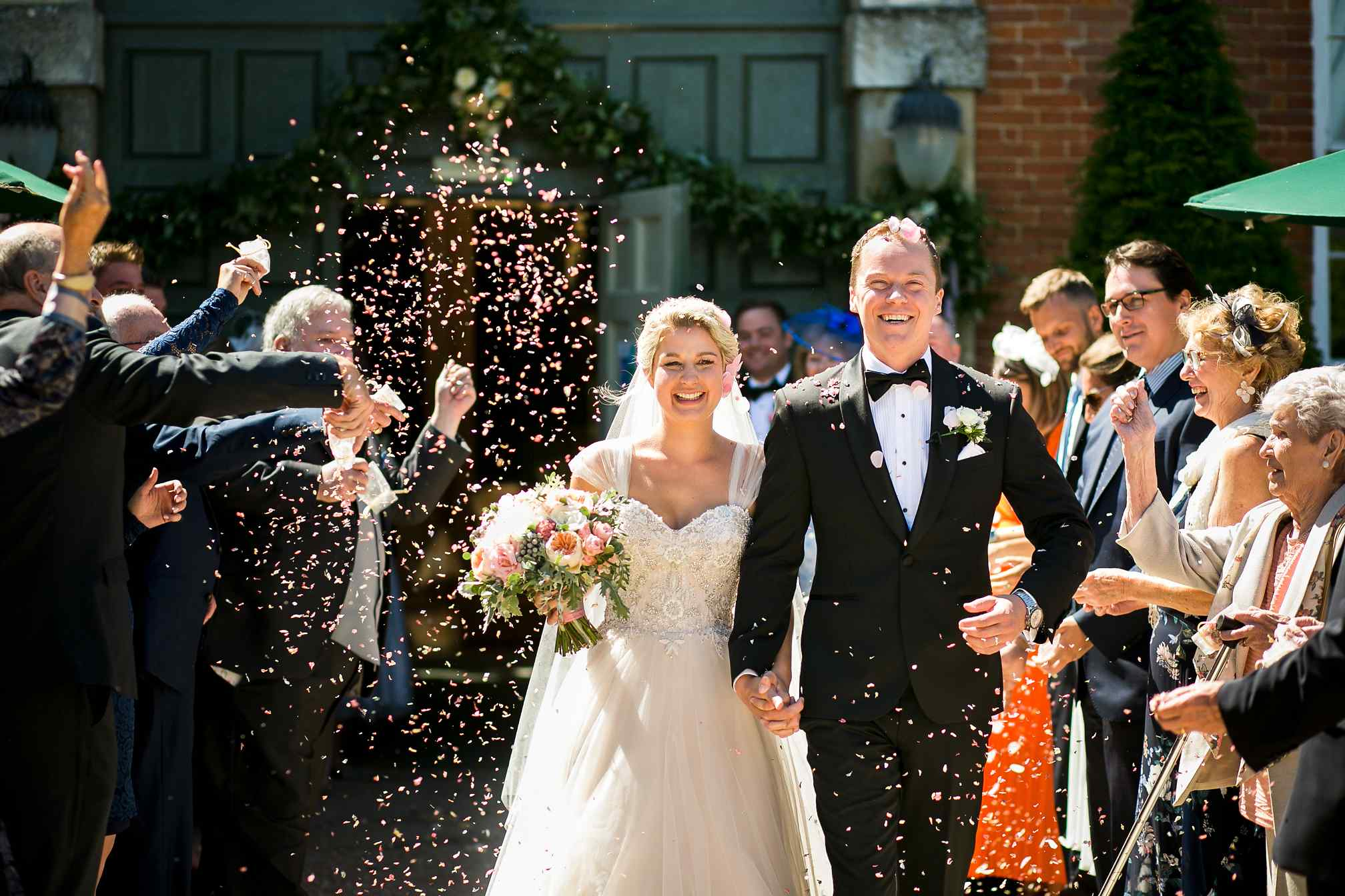 Fawsley Hall, Knightley Court Confetti Shot