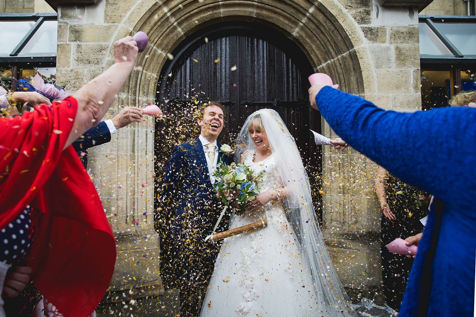 Award winning confetti picture at Woburn Abbey