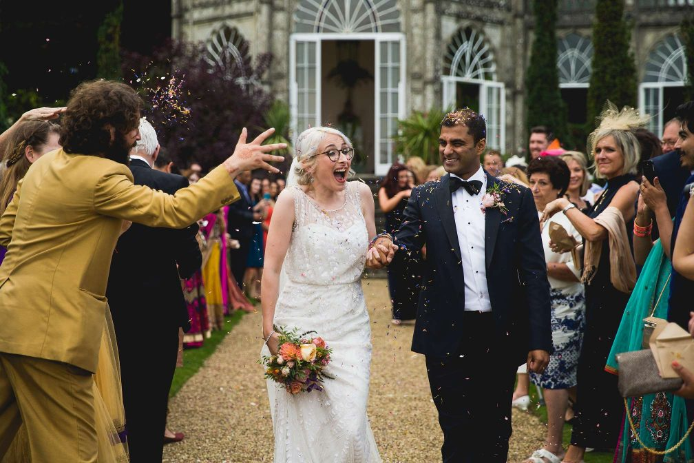 Award winning Sezincote confetti picture