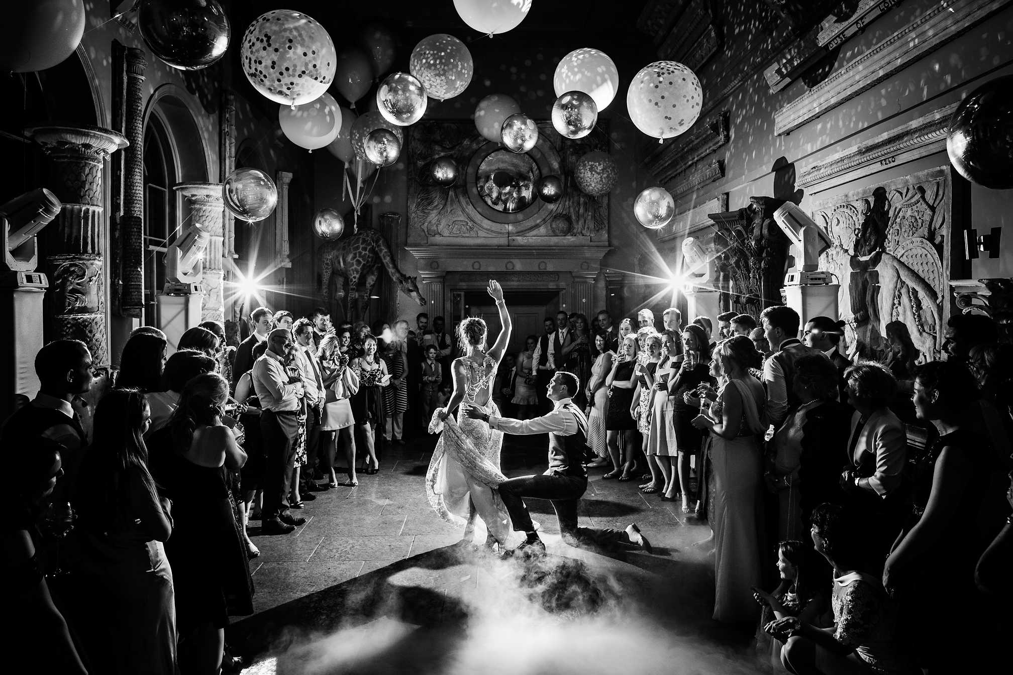 Black and White Award Winning First Dance at Aynhoe Park