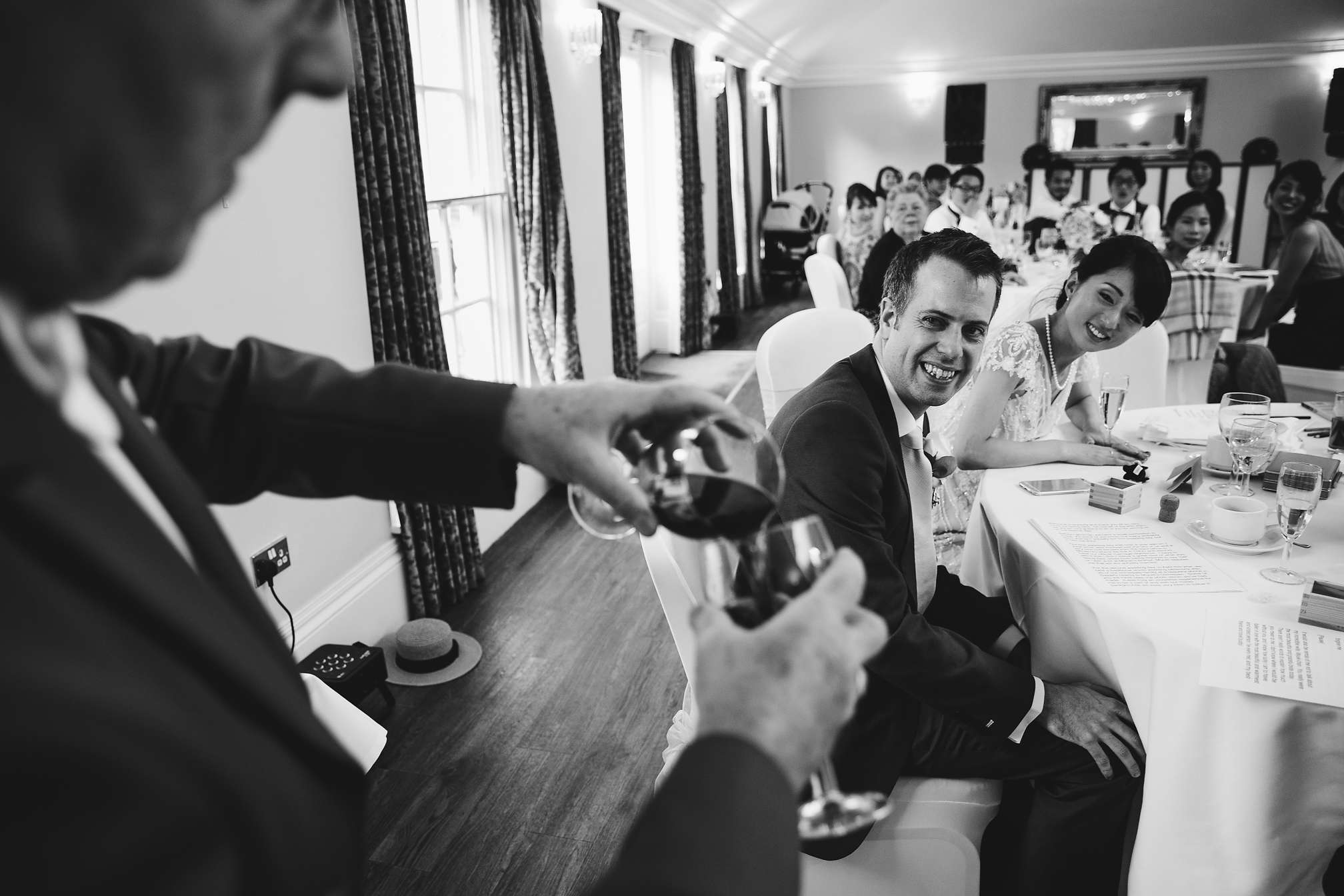 Barton Hall - Black and white award winning wedding photo
