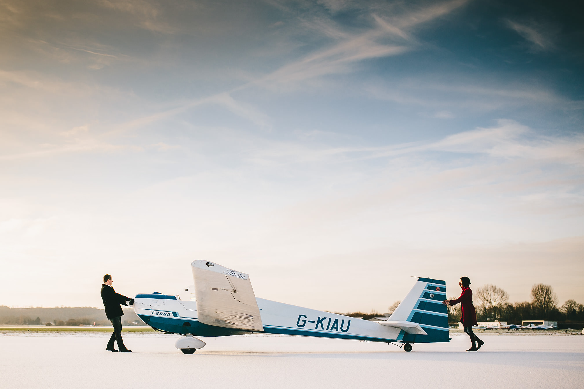 Pre-Wedding shoot at an airfield