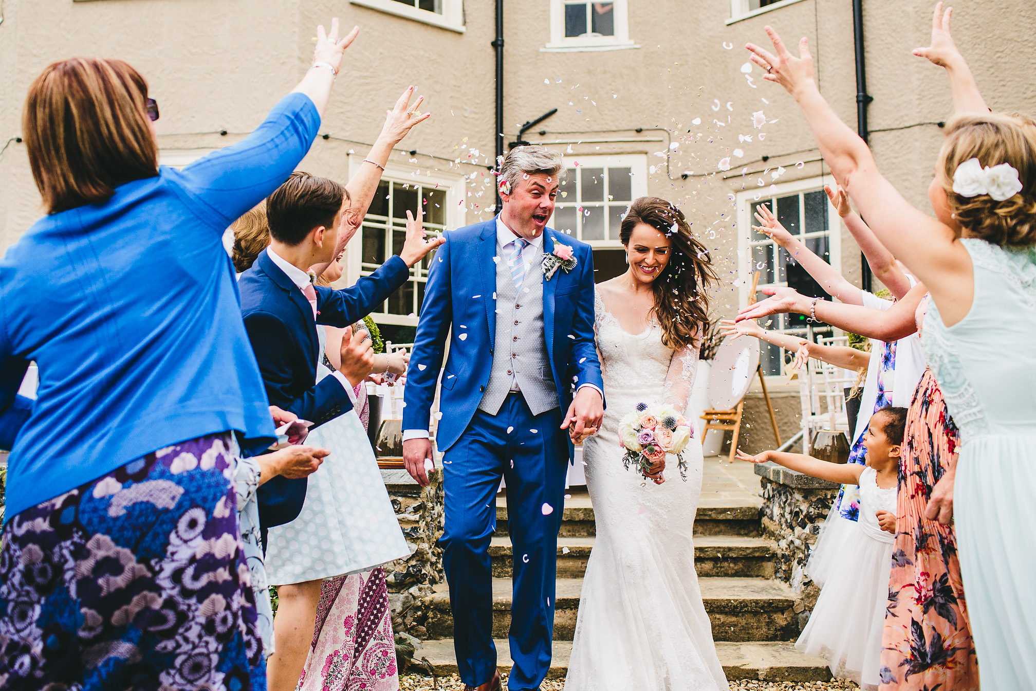 Essex Wedding - Confetti Picture