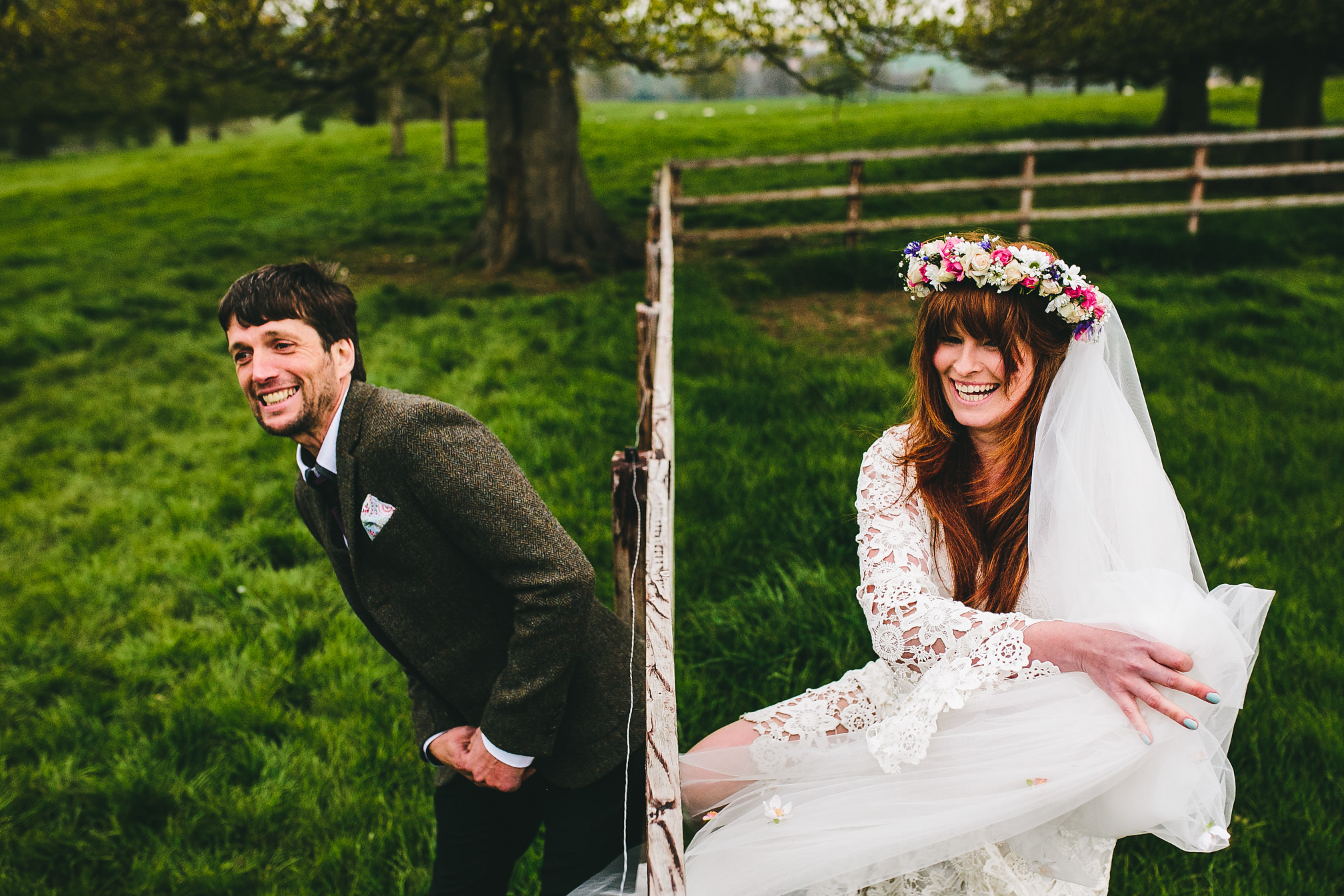 Countryside wedding fun