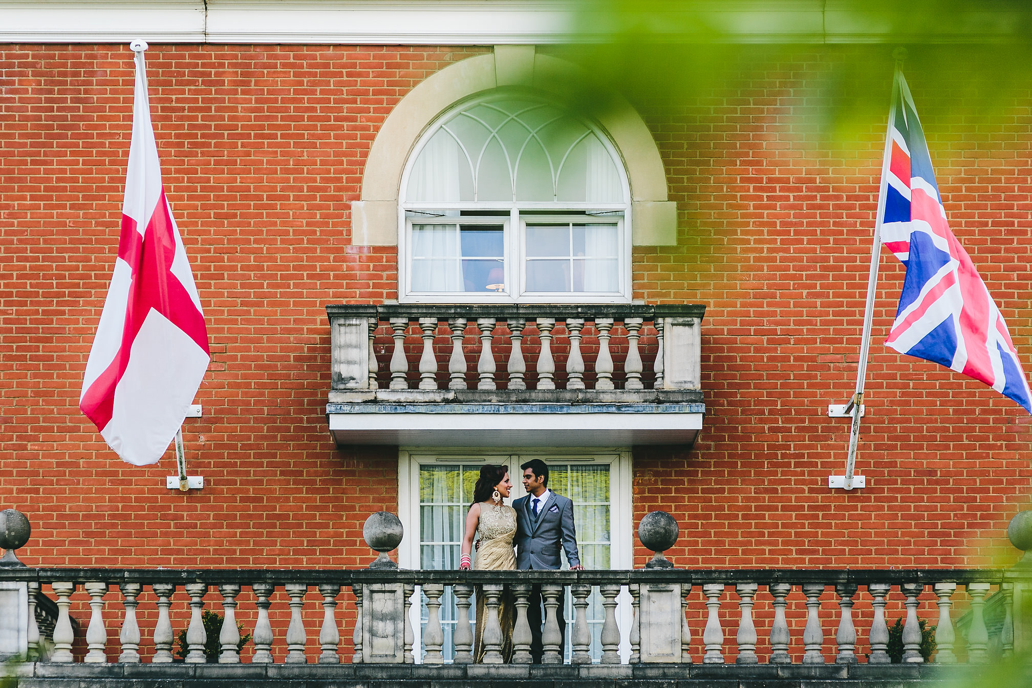 Couple on a balcony