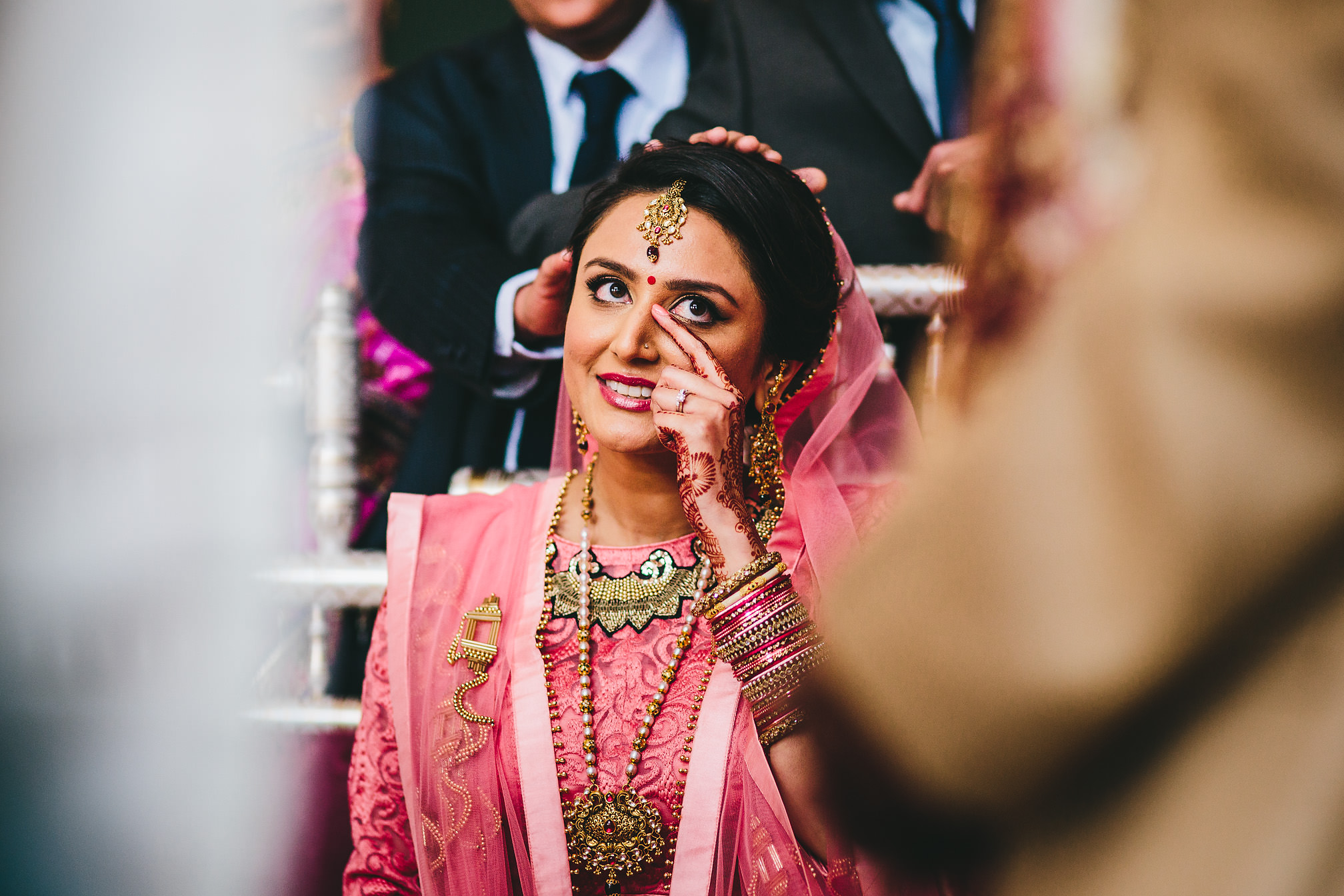 Hindu Bride crying