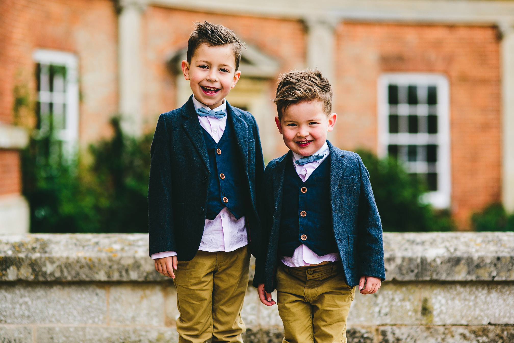 Two young wedding guests