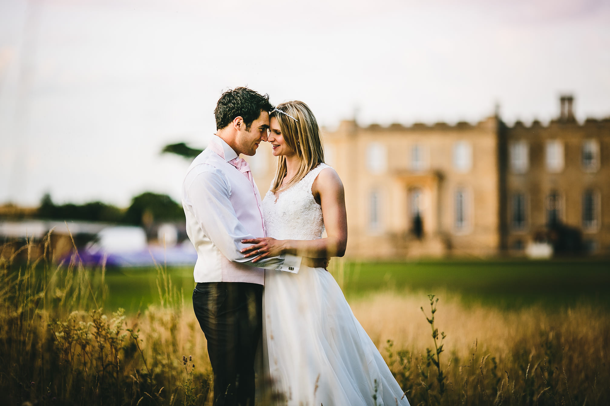 Kara & Javi, sunset portrait at Kimbolton Castle