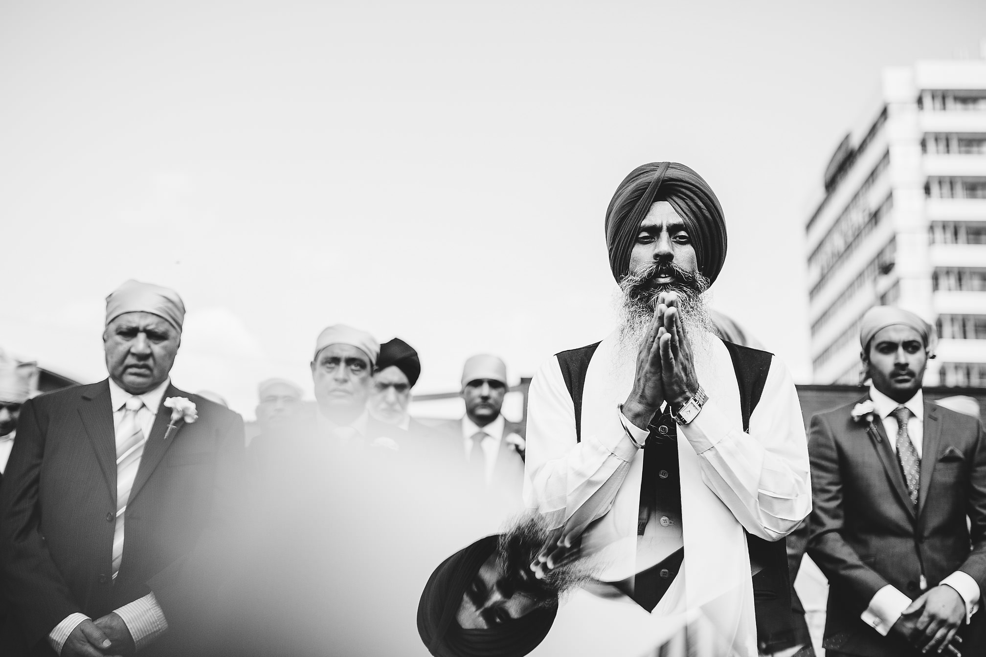 Sikh wedding outdoor ceremony