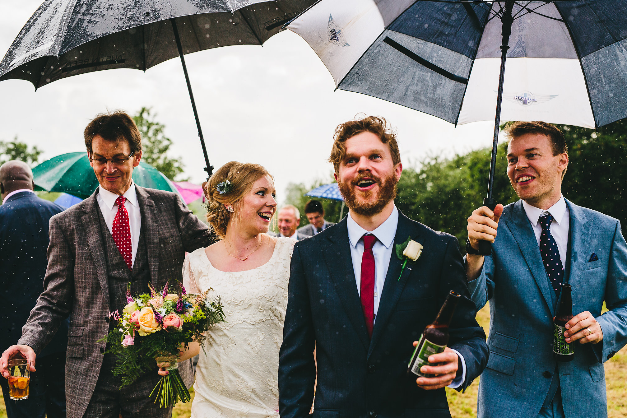 Rainy and fun wedding in Northamptonshire