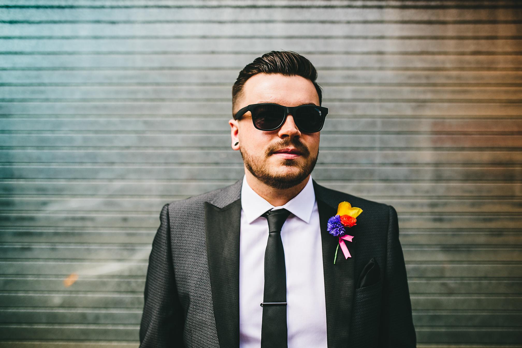 Cool grooms portrait