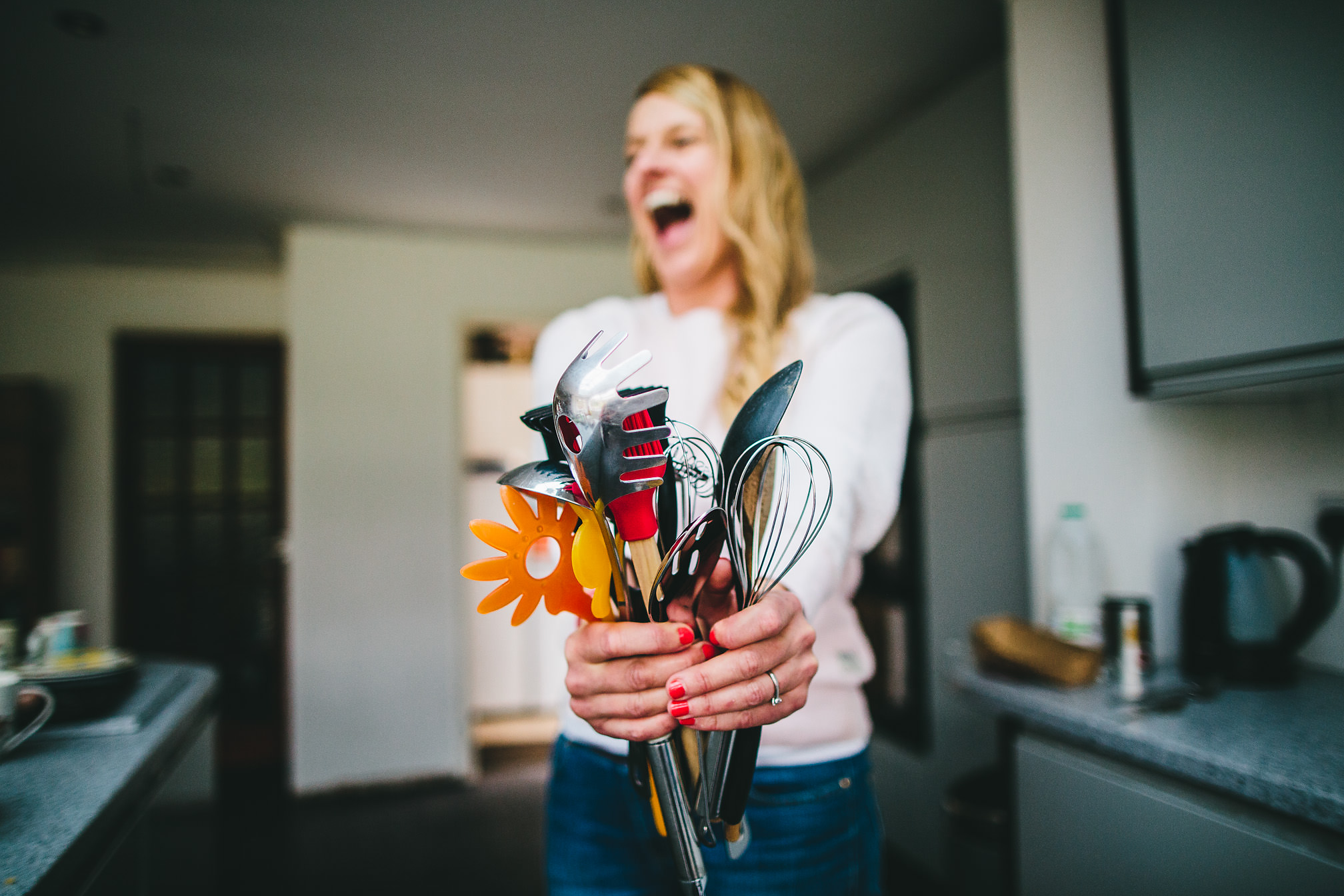 A bouquet made from kitchen utensils