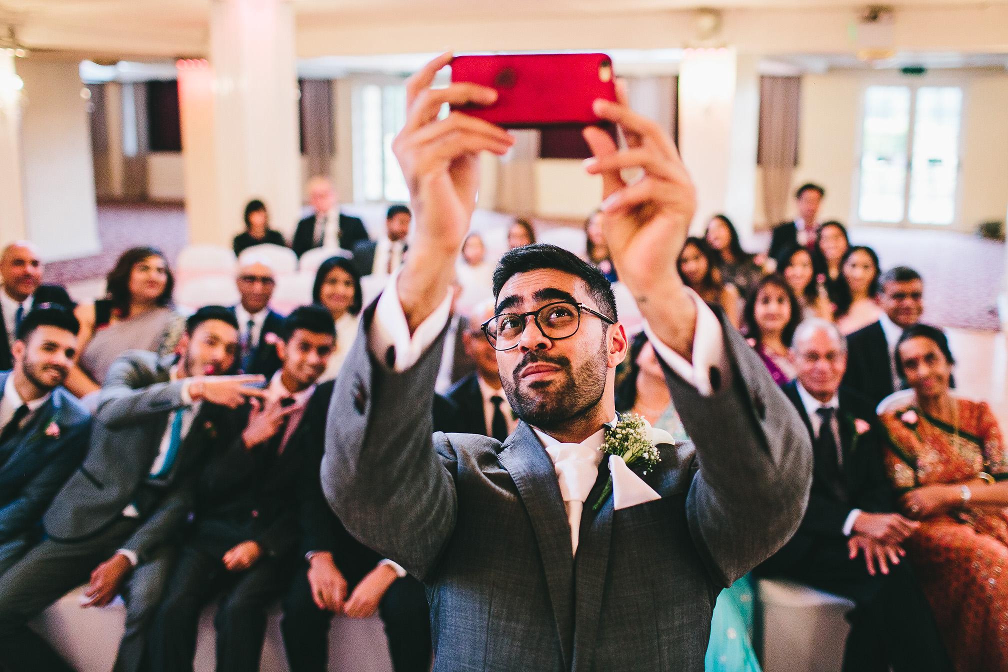 Grooms Epic Wedding Selfie
