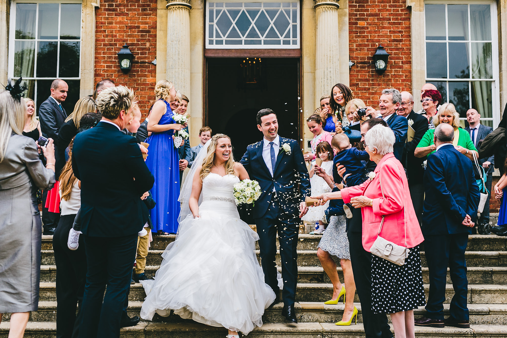 Confetti at Kelmarsh Hall, Northants