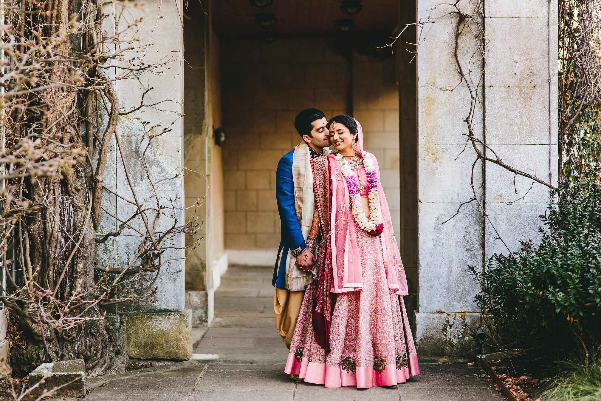 Hindu couple posing