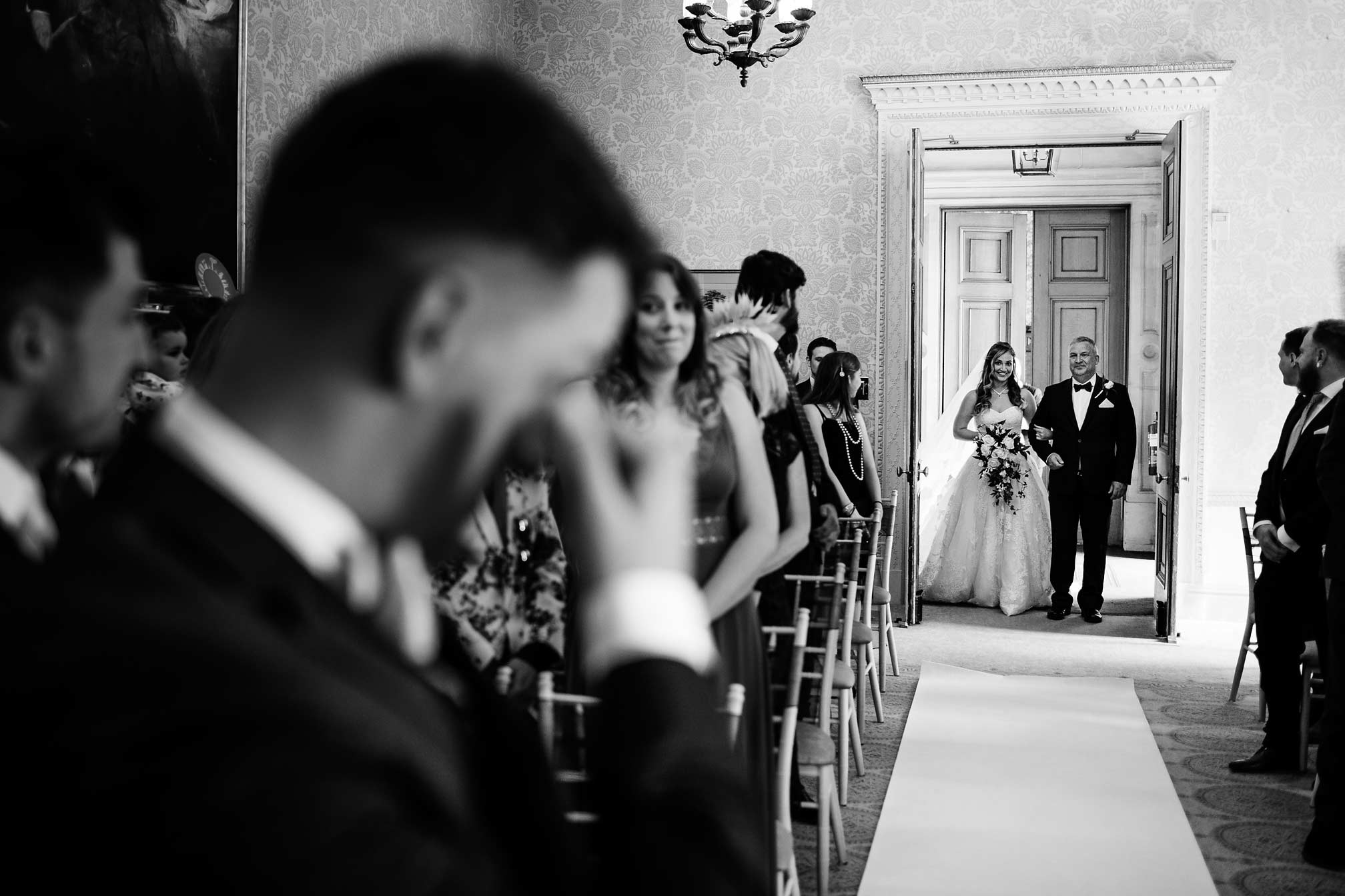 Award winning picture of bride walking down the aisle with her dad