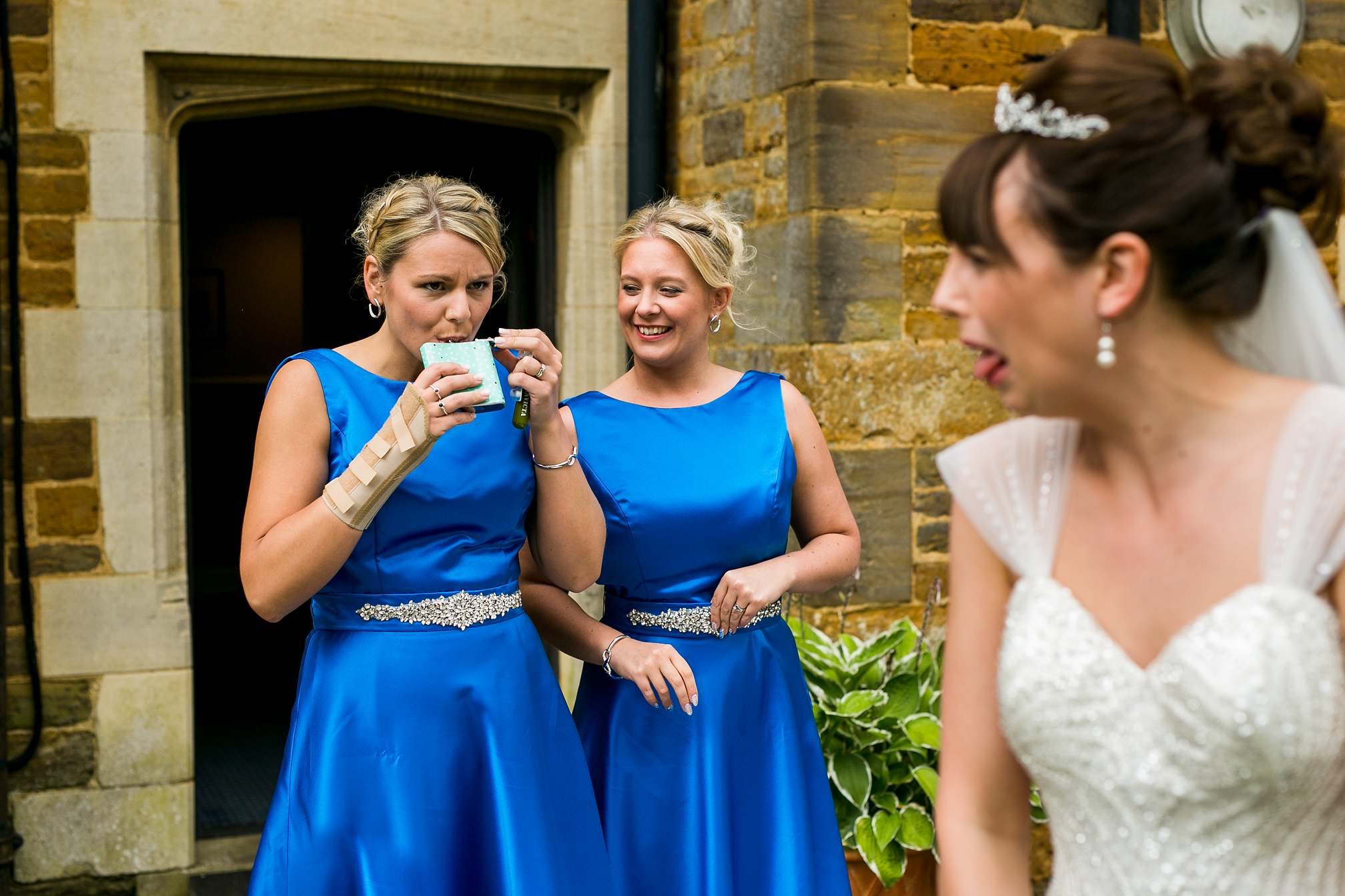 Funny Bridesmaid Drinking Booze