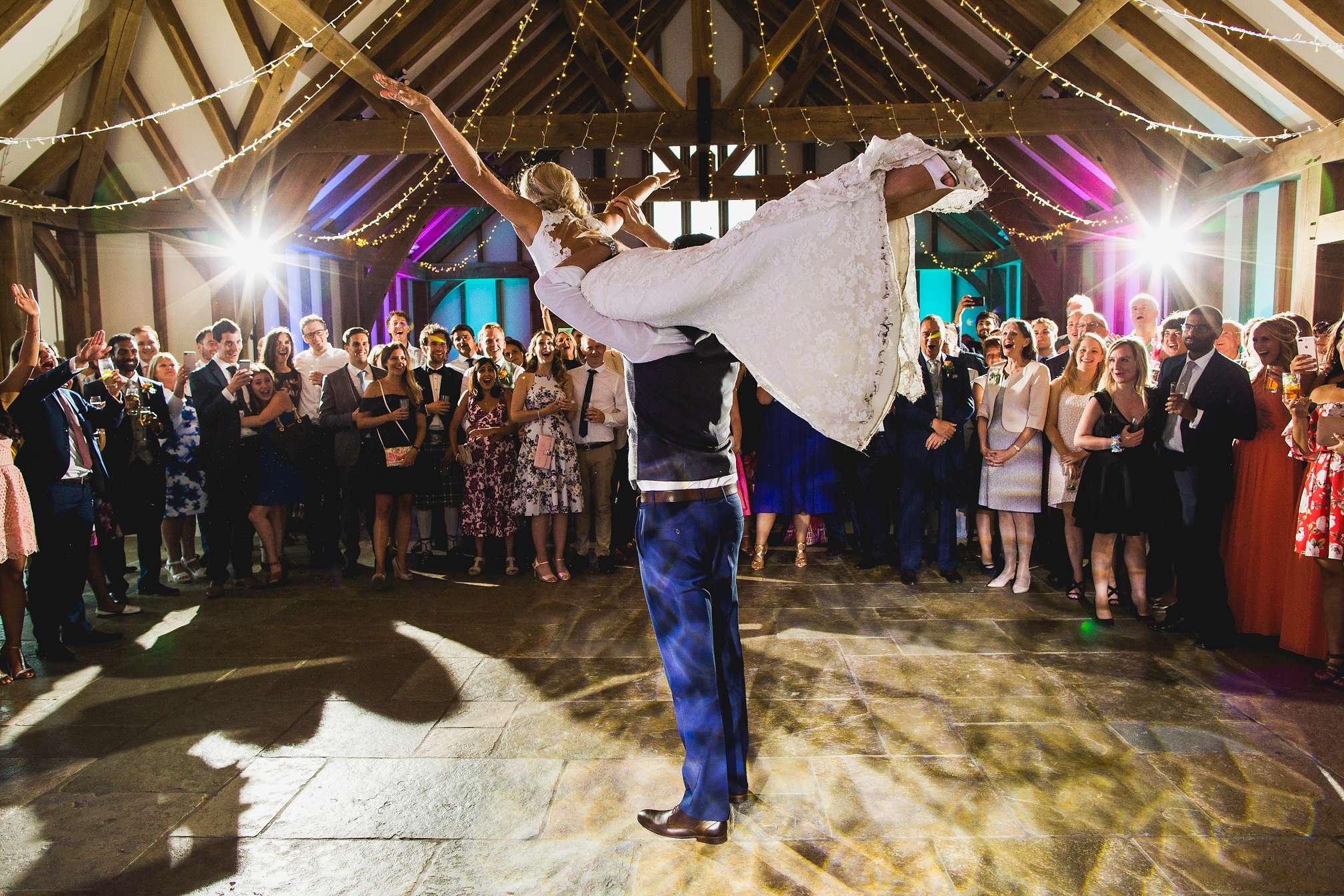 Brookfield Barn, amazing picture of Jon lifting up Jane during their first dance