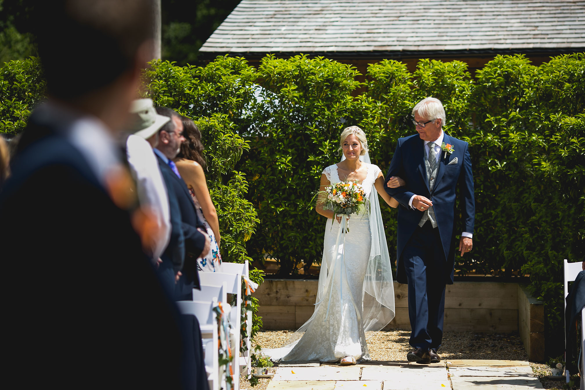 Jane and her dad walking down the isle
