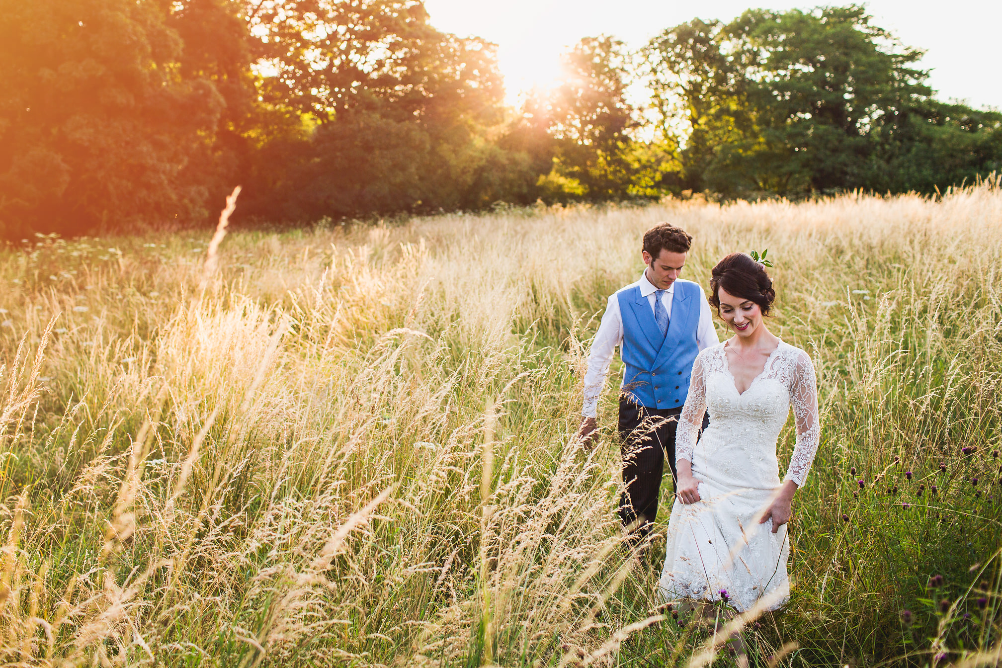 MyWed Editors Choice - Couples Portrait in a Field at Sunset