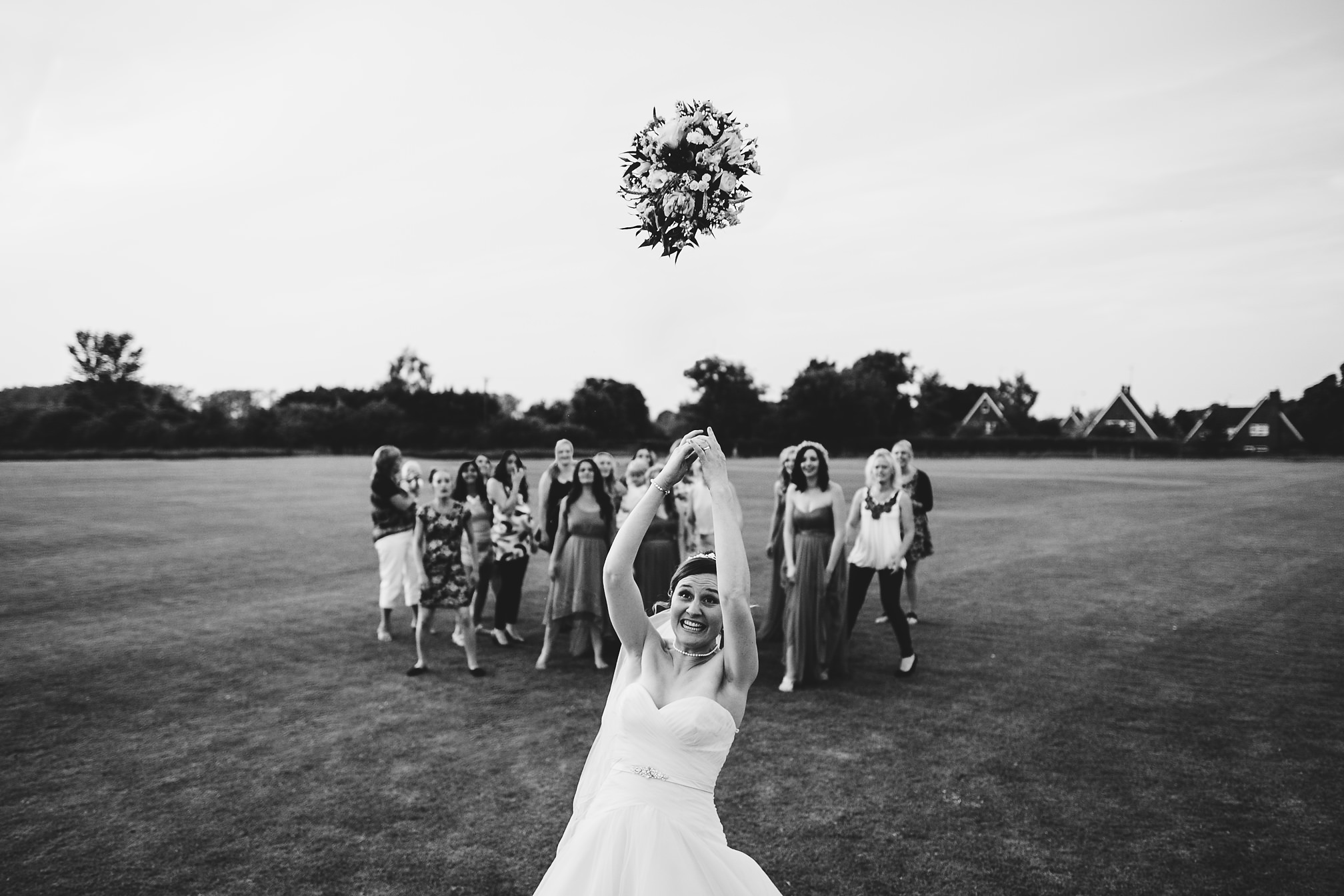 Award Winning Bouquet Toss Photograph