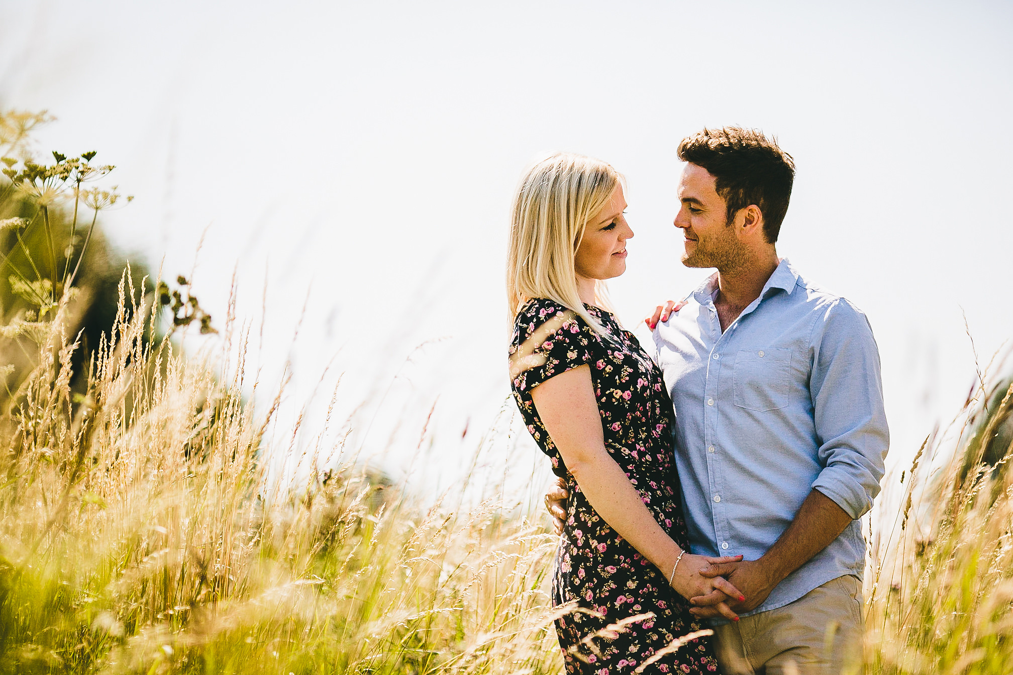 Stunning Pre-Wedding Couple in a Field