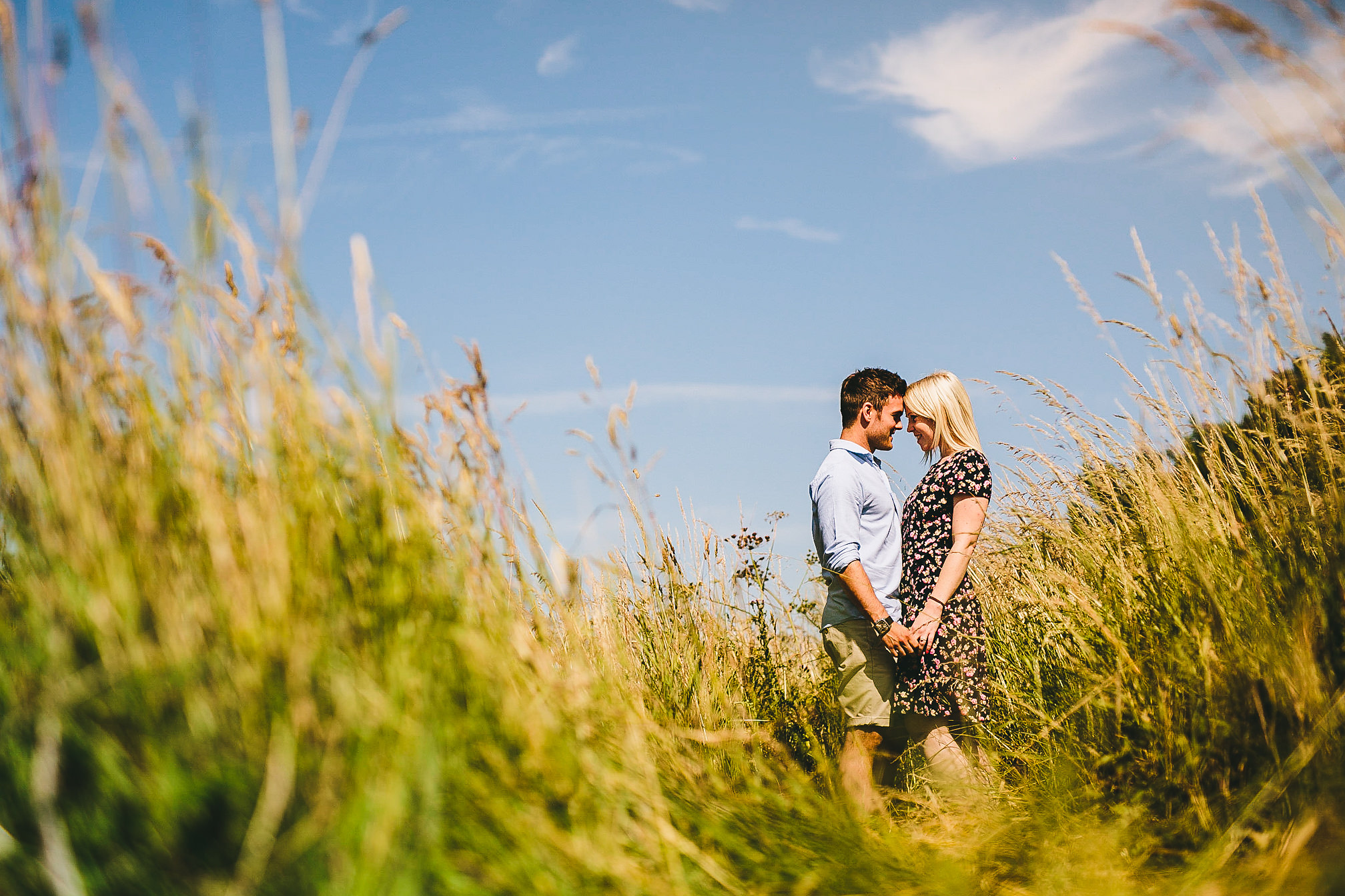 Stunning Summer Pre-Wedding shot of Kelly & James