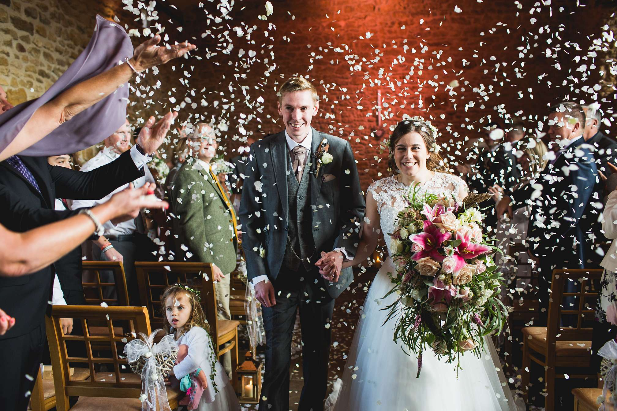 Confetti inside Dodford Manor