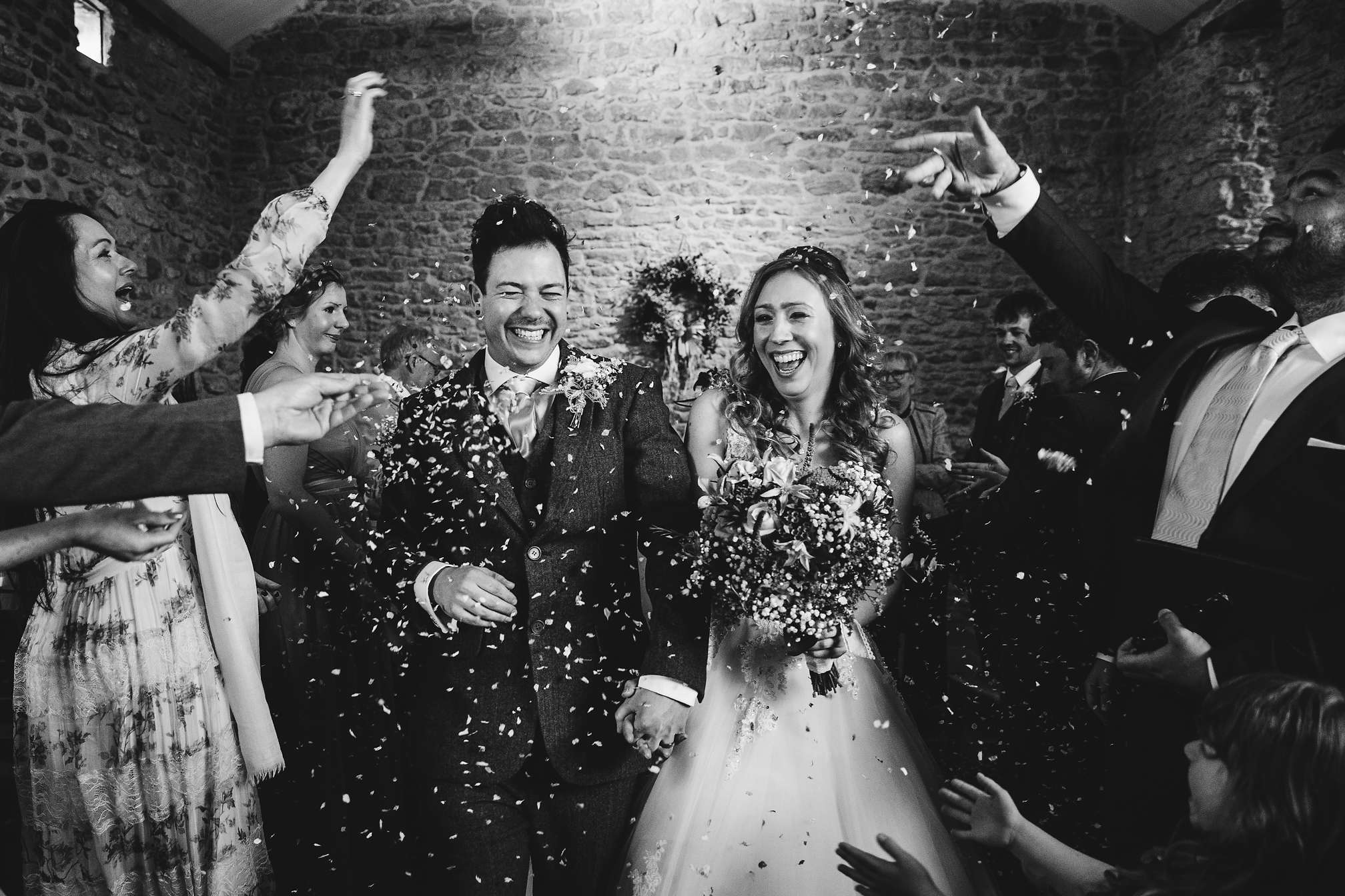 Confetti madness at Dodford Manor