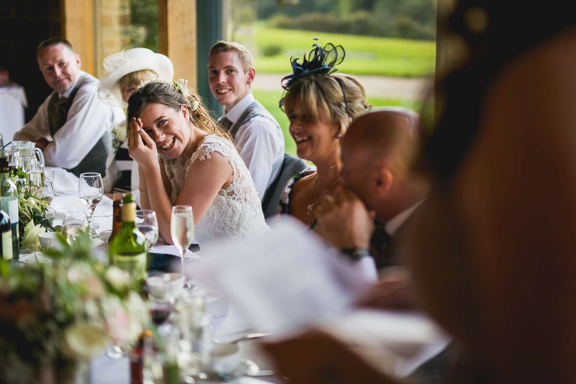 Funny moment during the speeches at Dodford Manor