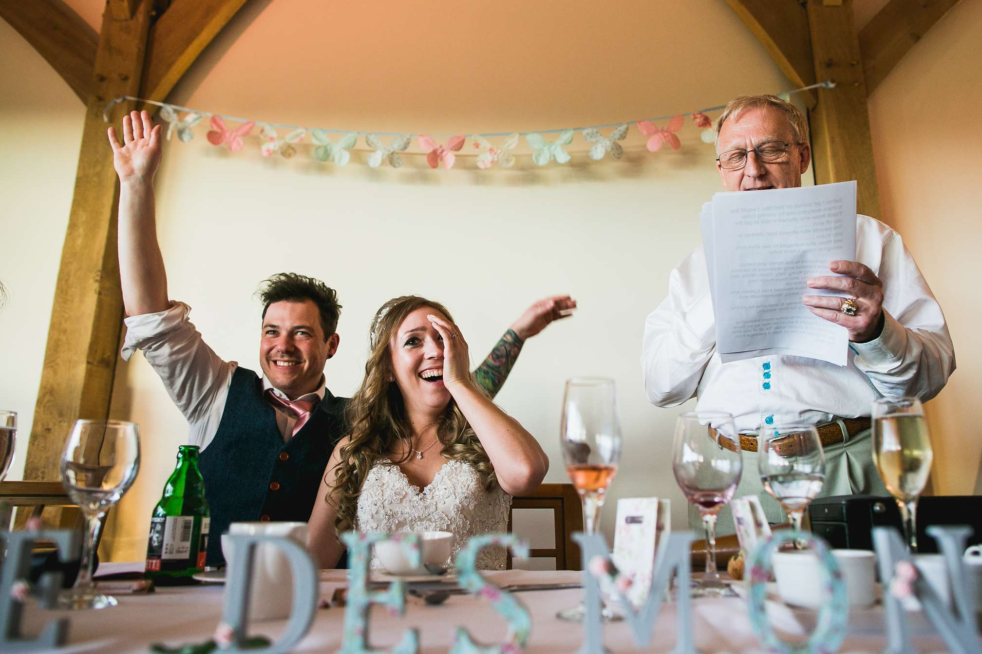 Wedding Speeches at Dodford Manor