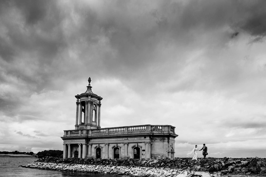 Dramatic Wedding Picture at Normanton Church