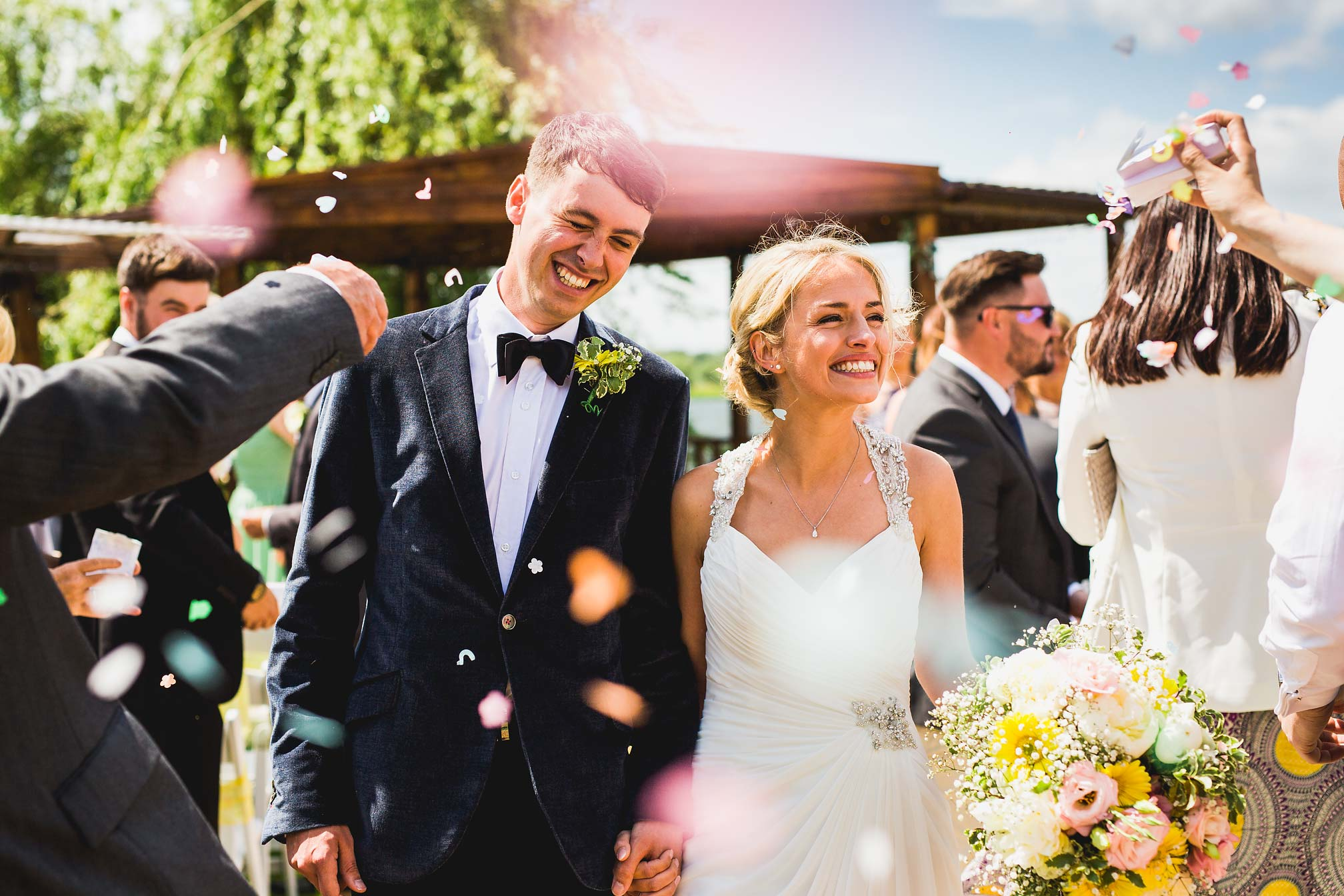 MyWed Editors Choice - Confetti Picture from a Northants Festival Wedding
