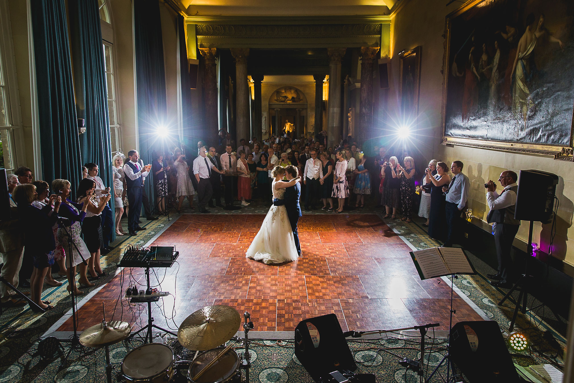First dance at Woburn Abbey Sculpture Gallery