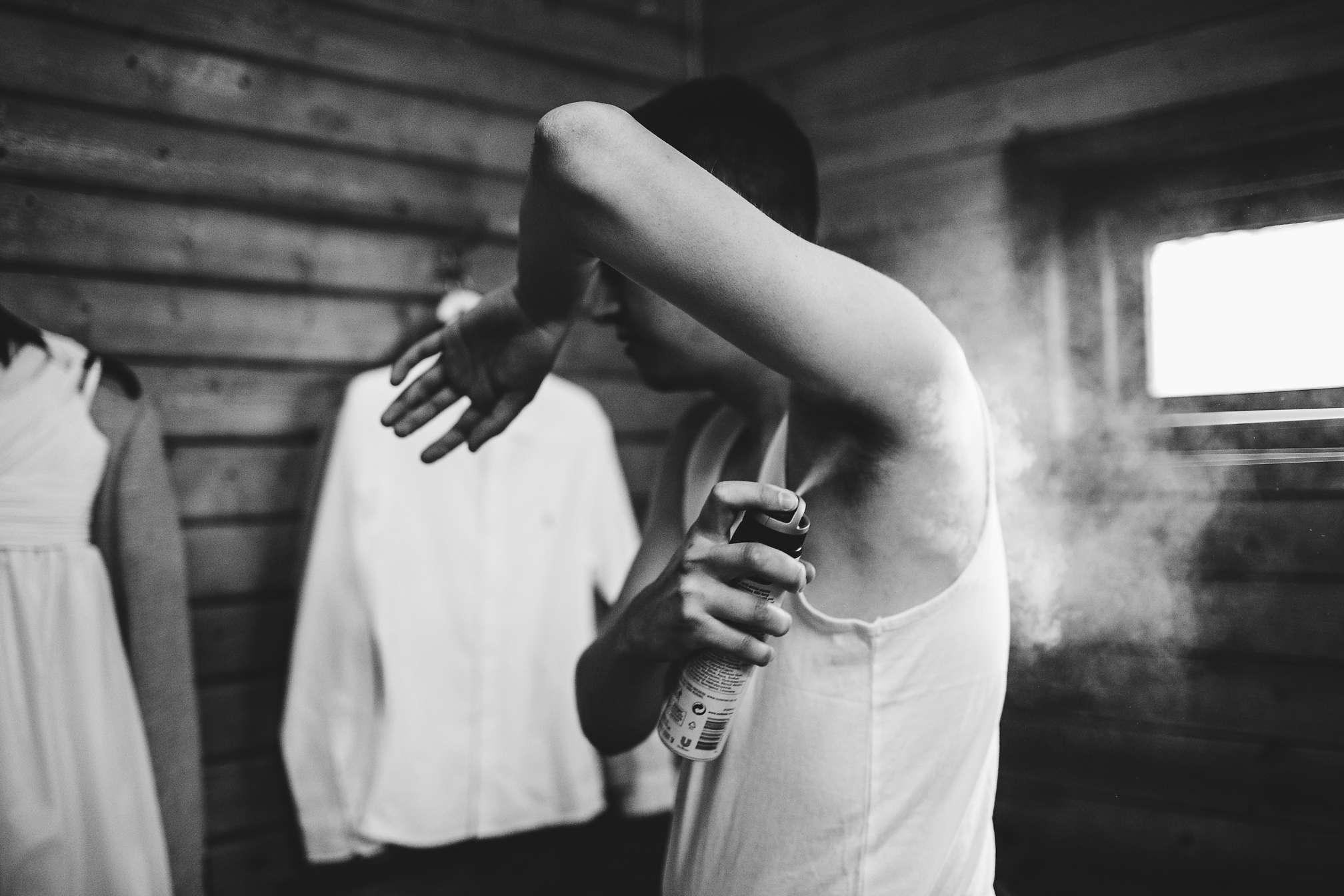 Under arm deodorant