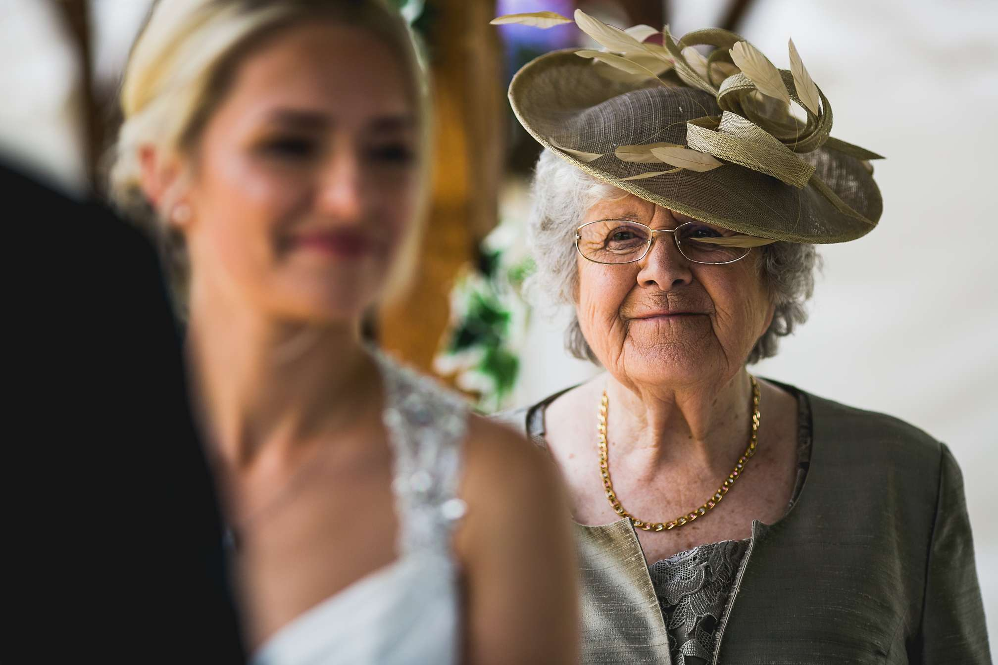 Rachel's Nan during the ceremony
