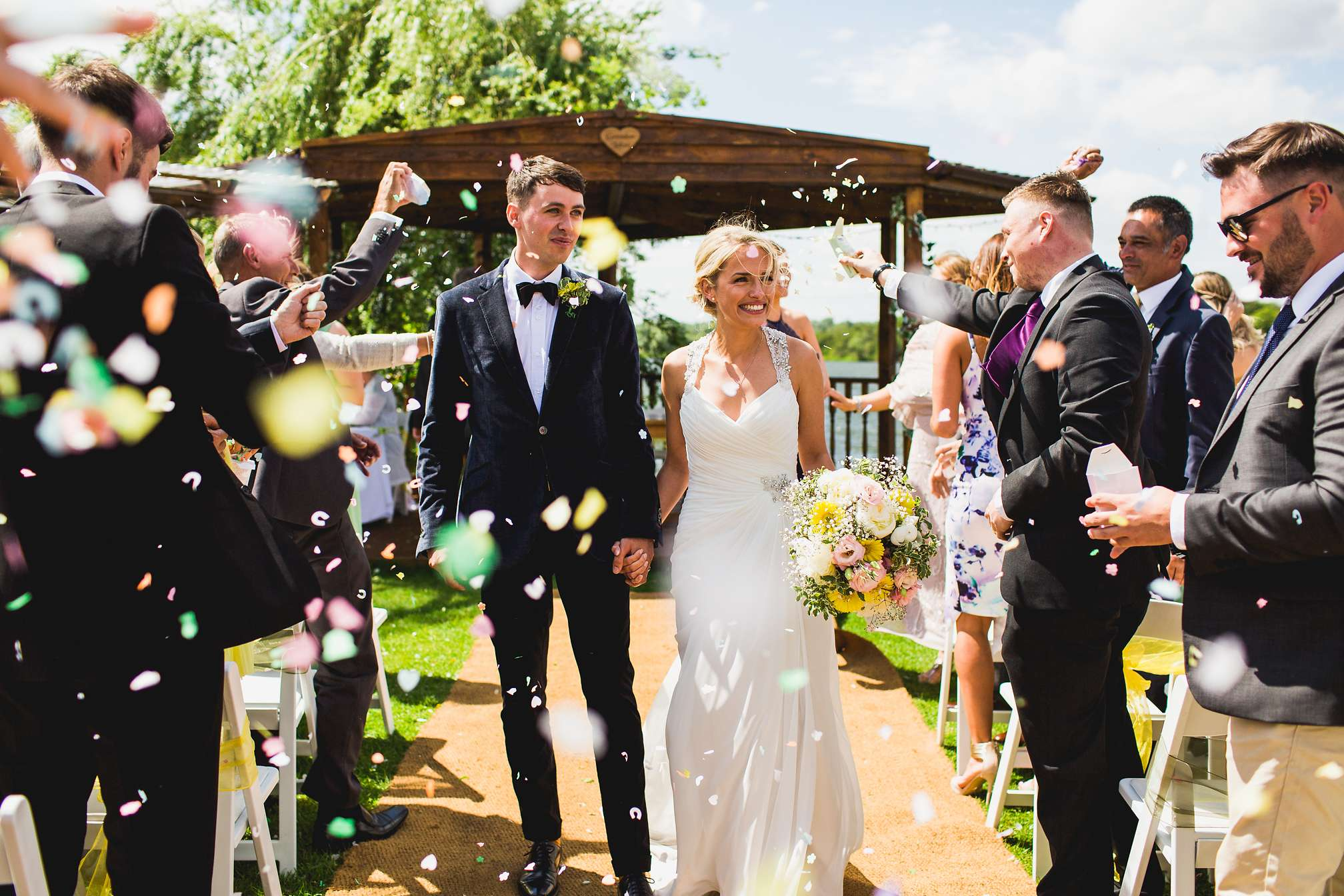 Outdoor confetti at Grendon Lakes