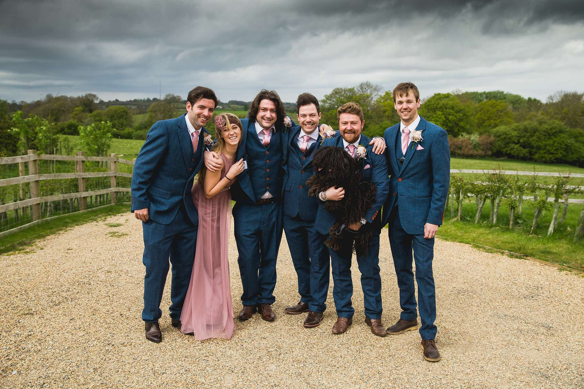 Groomsmen group shot at Dodford manor