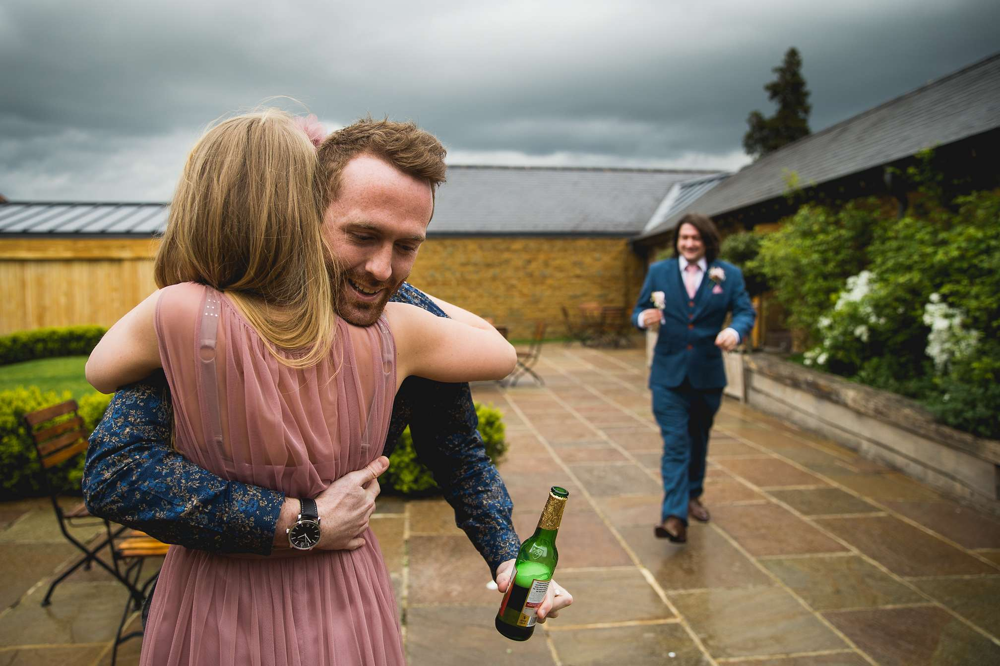 Guests hugging at Dodford Manor
