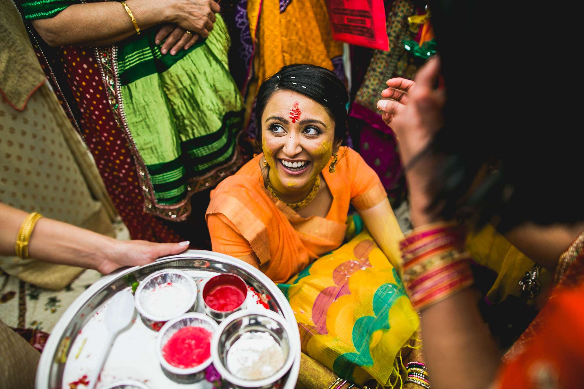 Fearless Photographers - Best in South Asian Weddings Category - Yellow Powder Ceremony