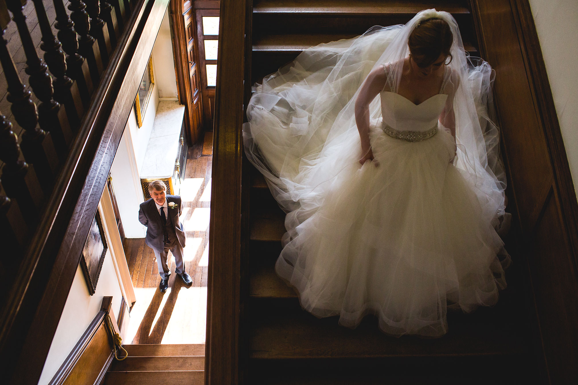 MyWed Editors Choice - Holdenby House Stairs Wedding Picture