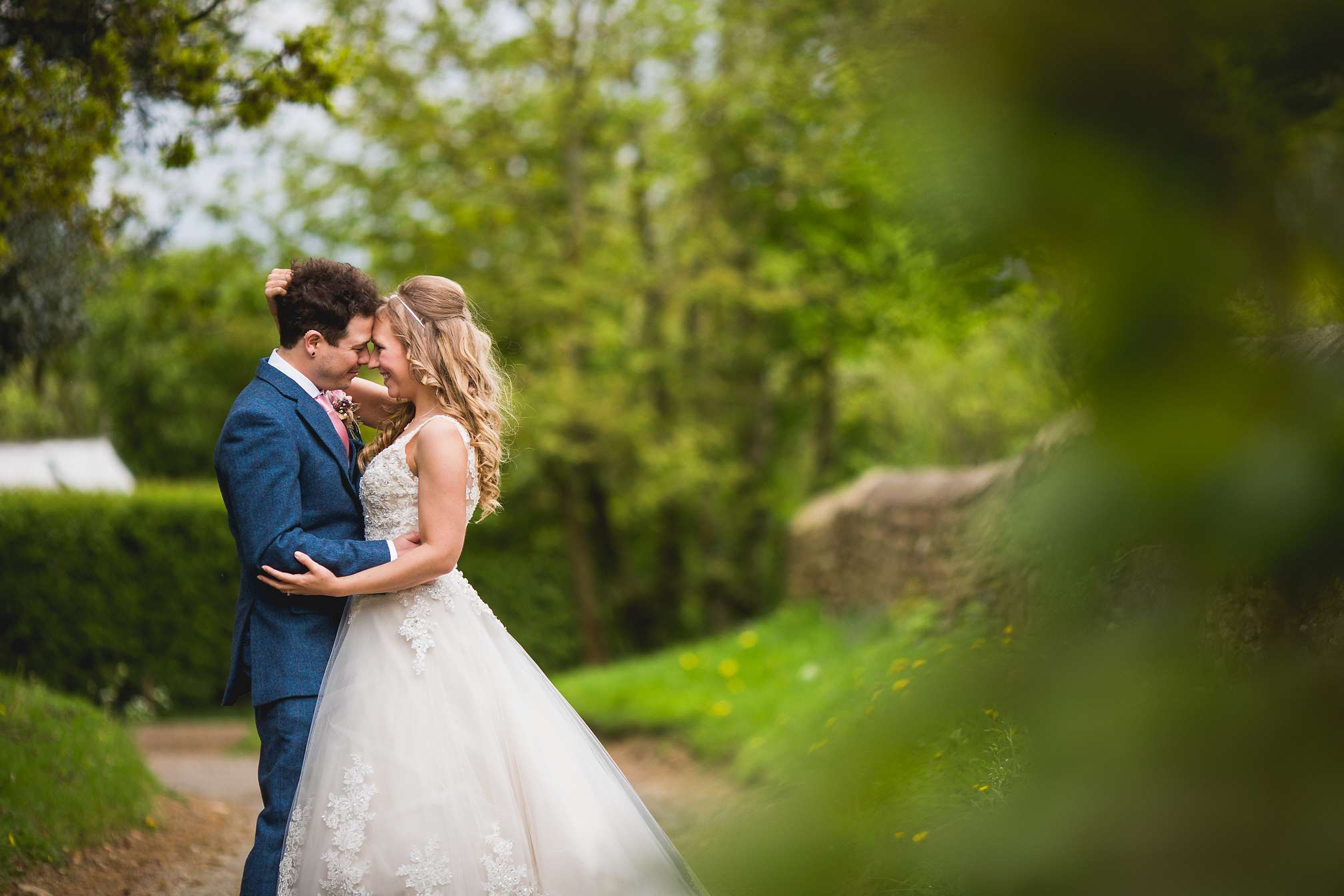 Gorgeous portrait of Holly and Danny at Dodford Manor