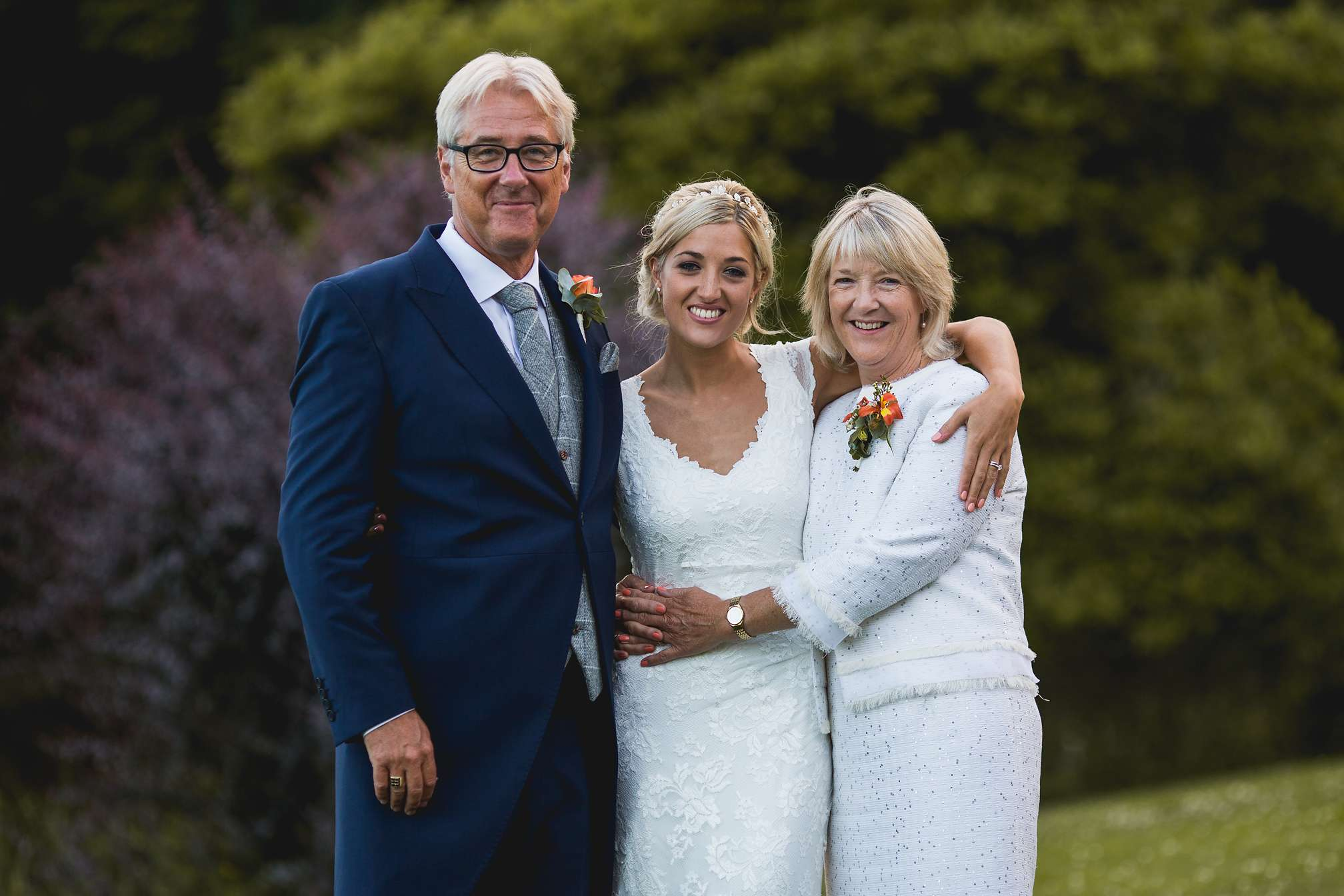 Jane with her mum and dad