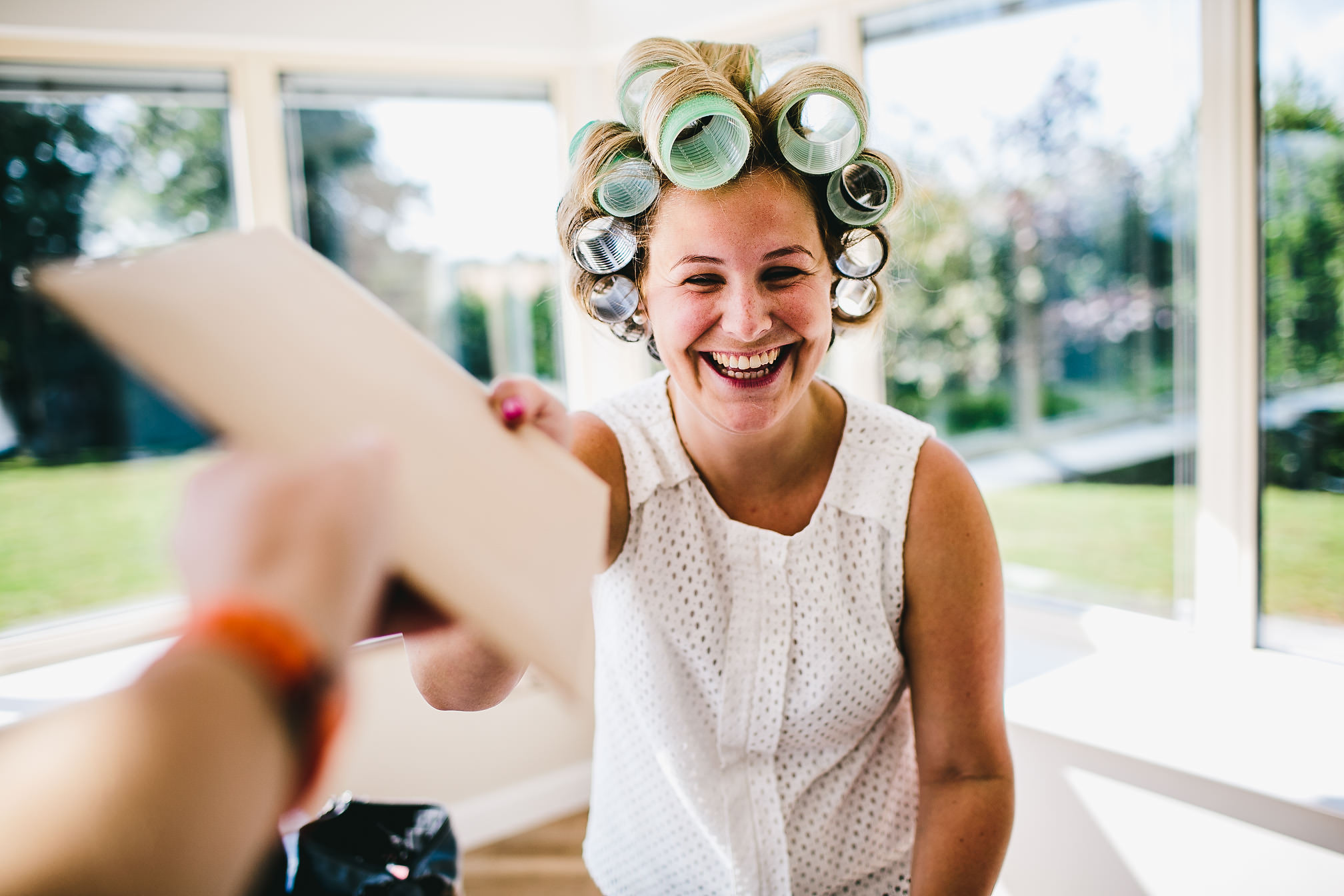 Wedding Hairdresser in Rollers