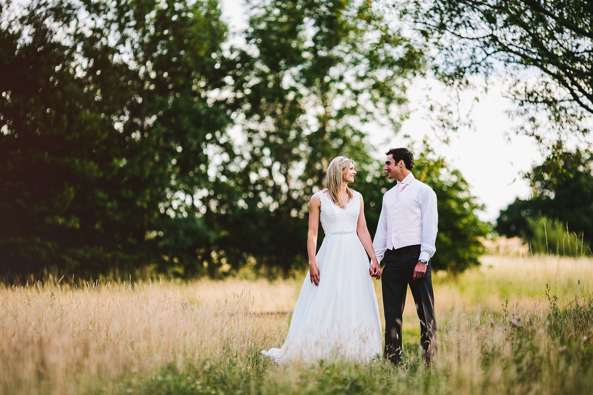 Kara & Javi during the Golden Hour at Kimbolton Castle