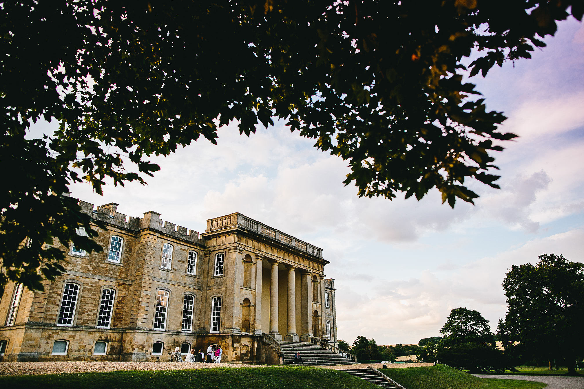 Kimbolton Castle Wedding at Sunset