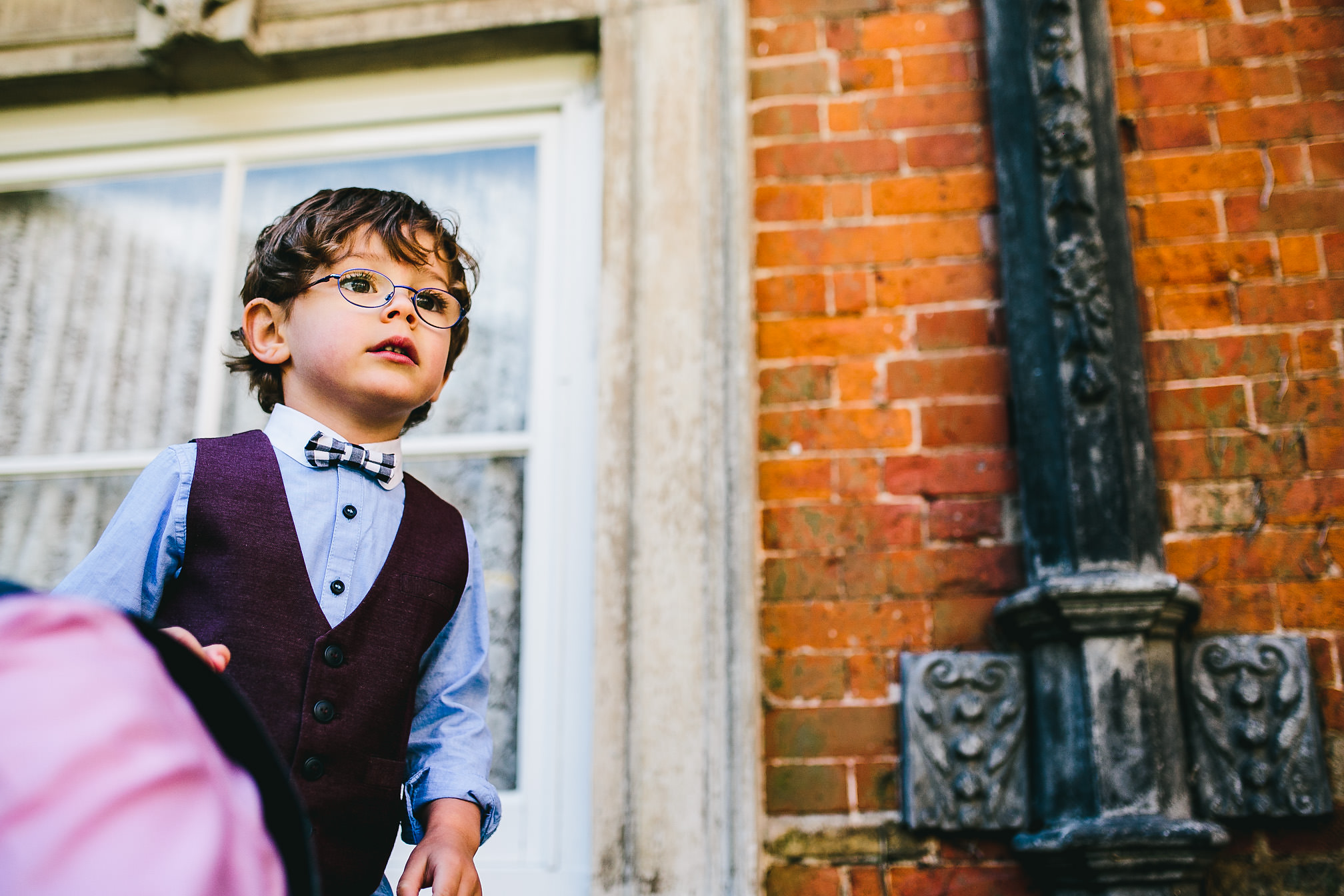 Infant at a wedding - Kimbolton Castle Wedding