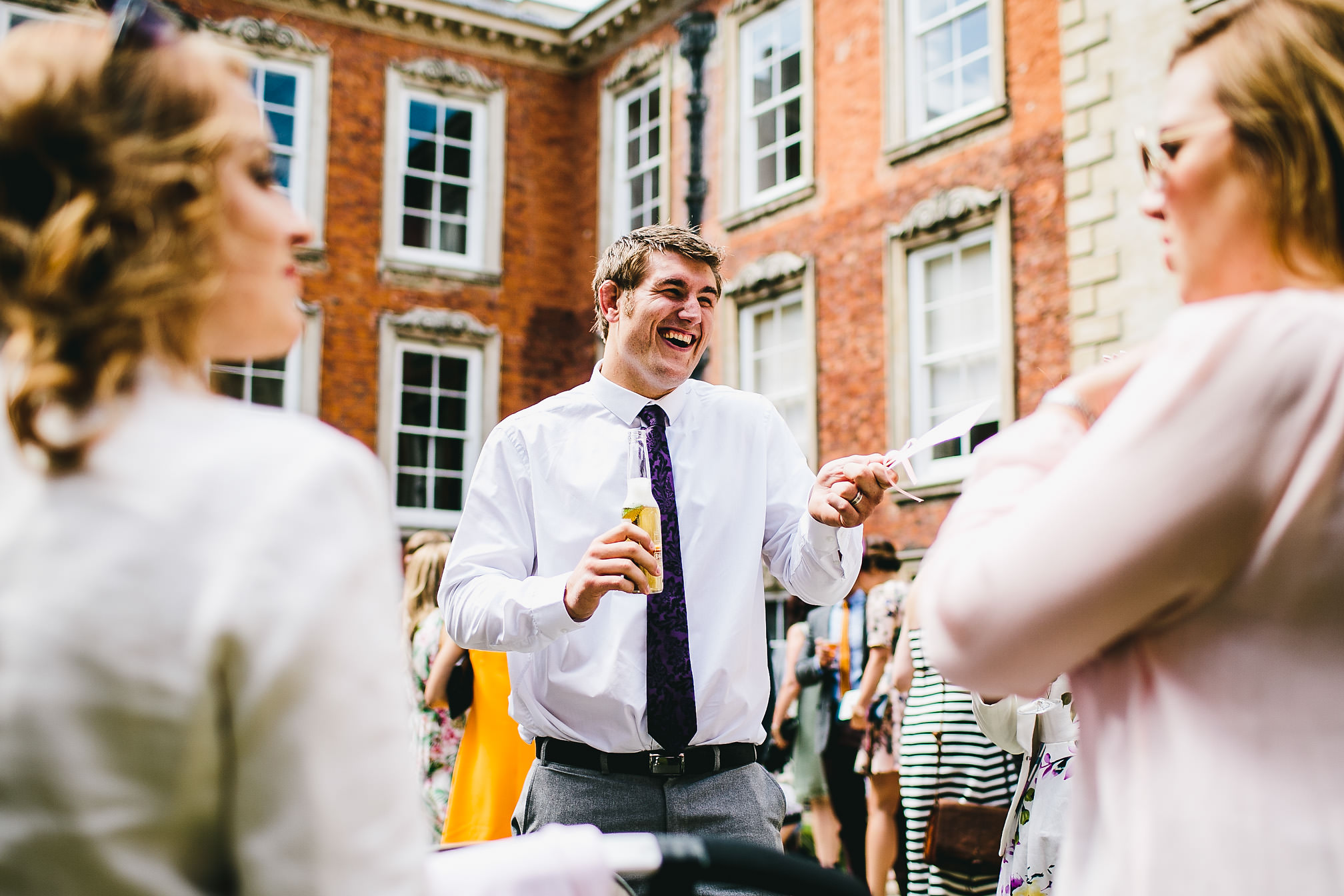 Laughing Guest - Kimbolton Castle Wedding