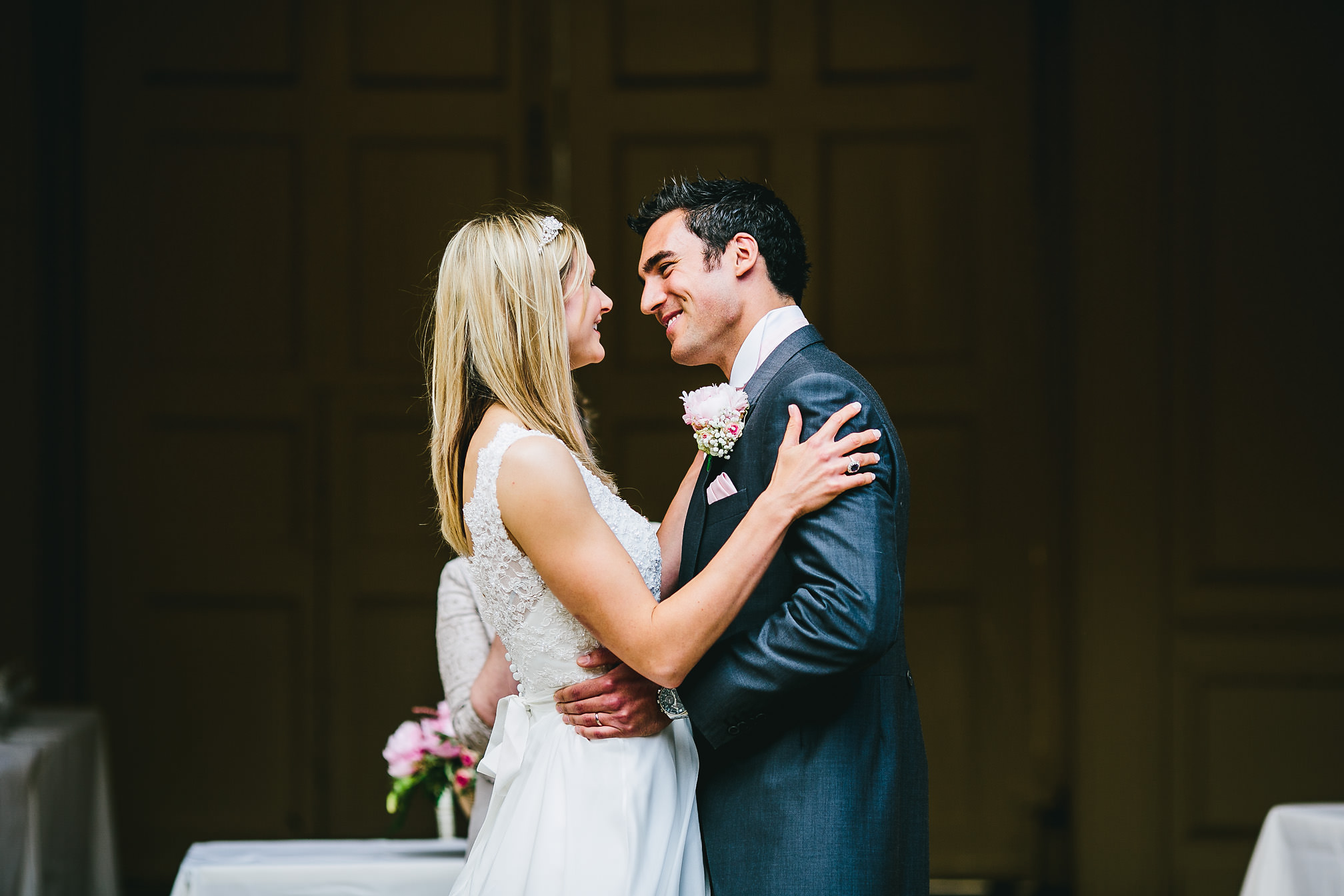 Couple in love at Kimbolton Castle
